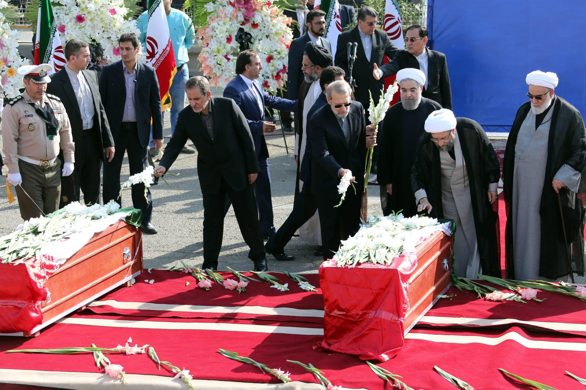 صورة أرشيفية من وصول جثامين ضحايا حادث منى إلى إيران