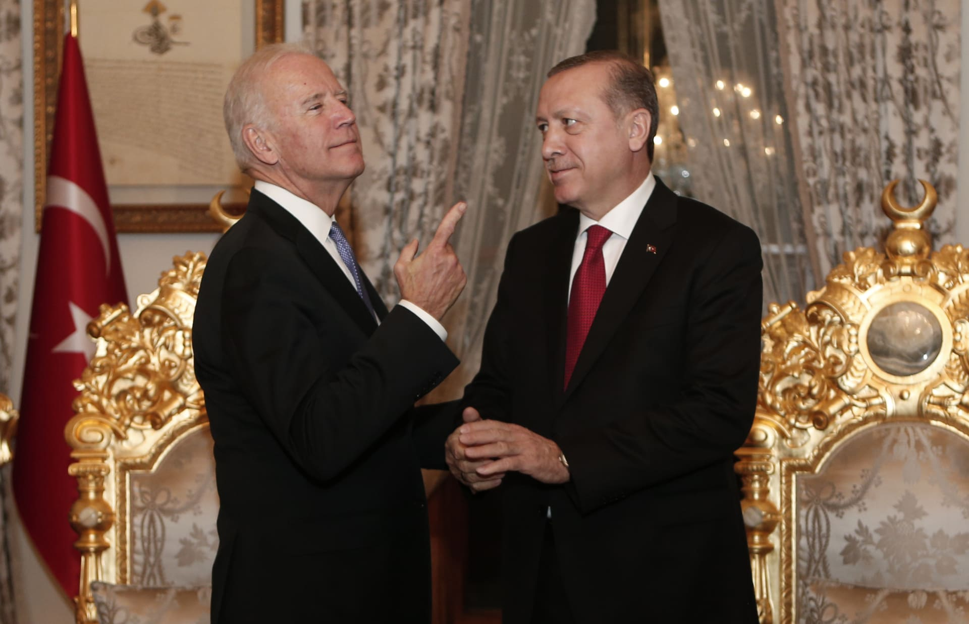 صورة أرشيفية من لقاء بين أردوغان وبايدن عام 2016