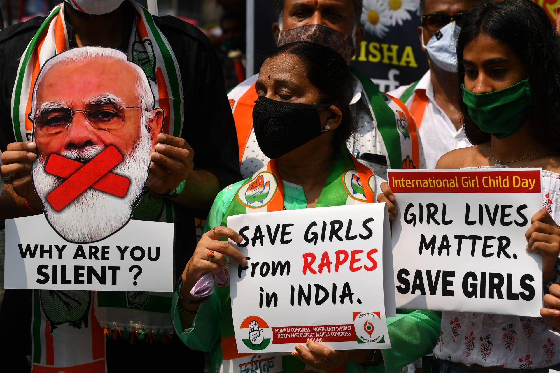 صورة أرشيفية من احتجاجات ضد جرائم الاغتصاب في الهند