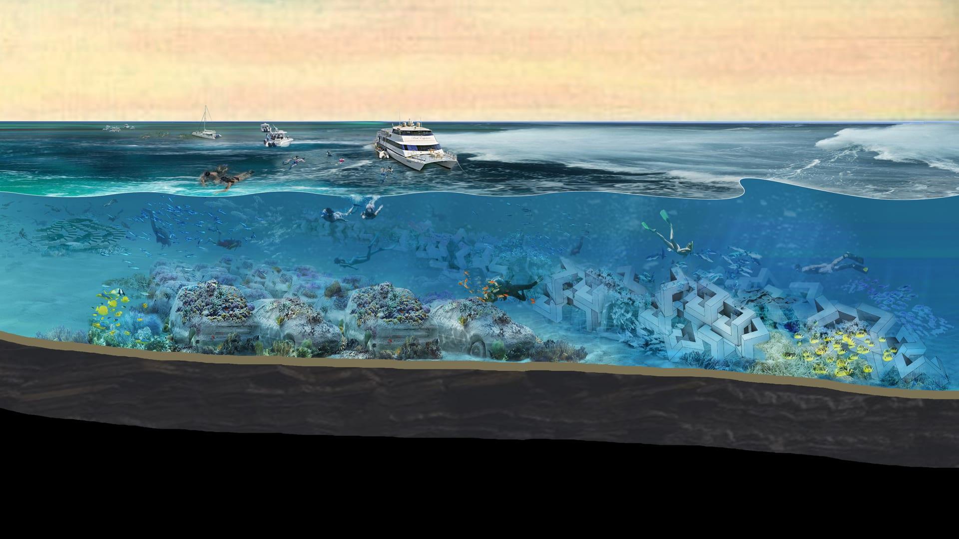 وكأنها من عالم آخر.. ميامي تفتتح قريباً منتزه منحوتات غارق في قاع المحيط