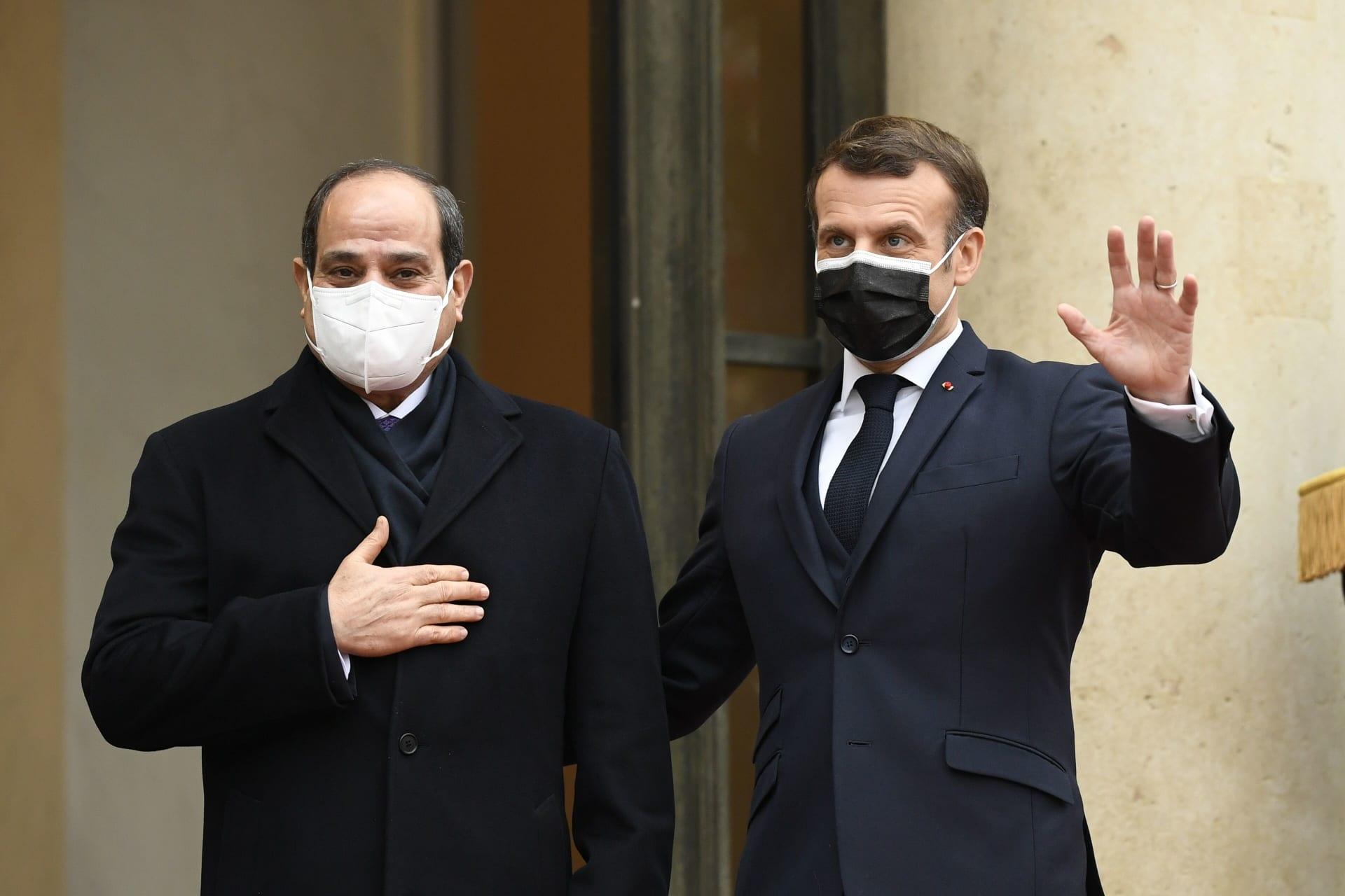 ماكرون بعد لقائه السيسي: لن أربط بيع الأسلحة لمصر بسجل جقوق الإنسان الخاص بها