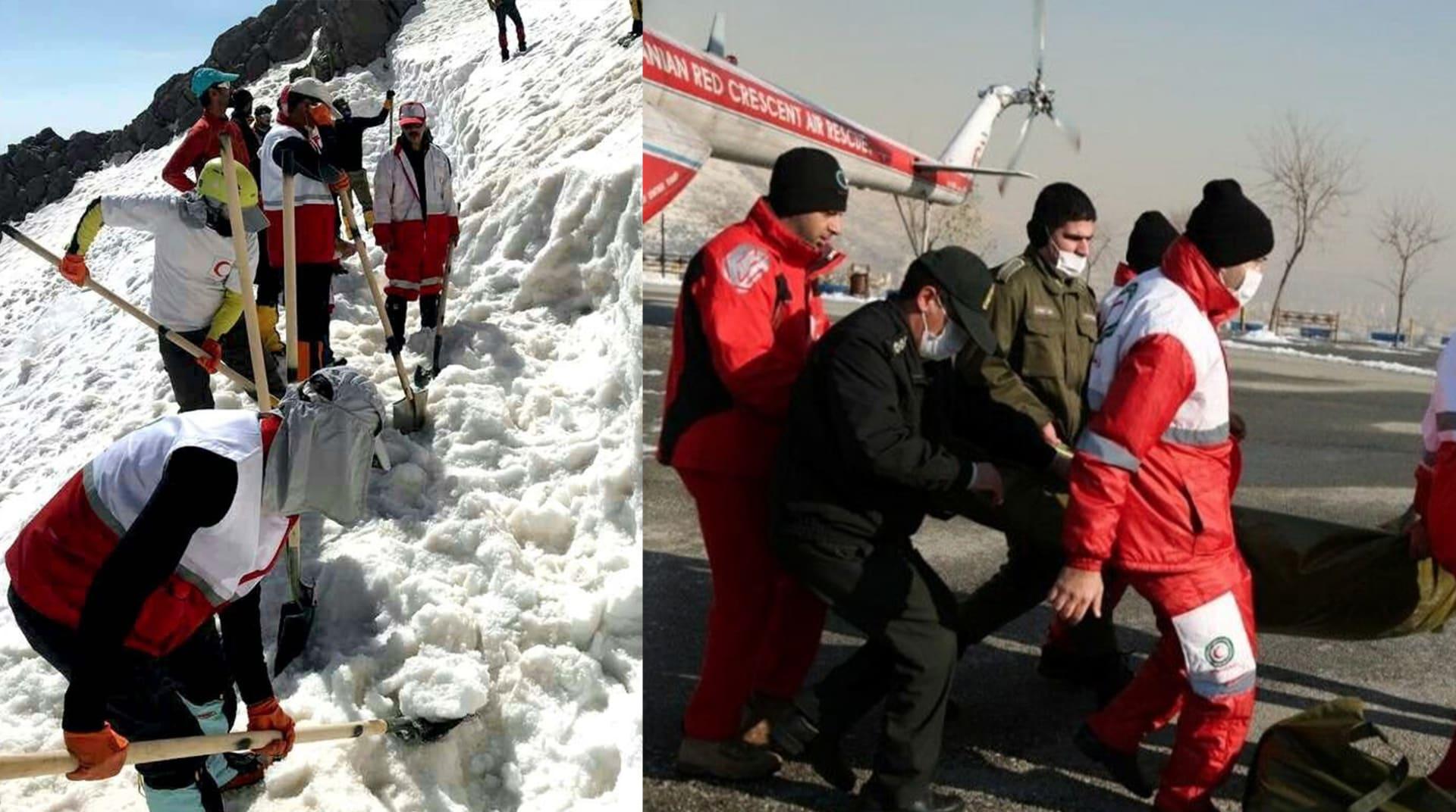 مقتل 12 متسلقاً للجبال في انهيار جليدي في إيران