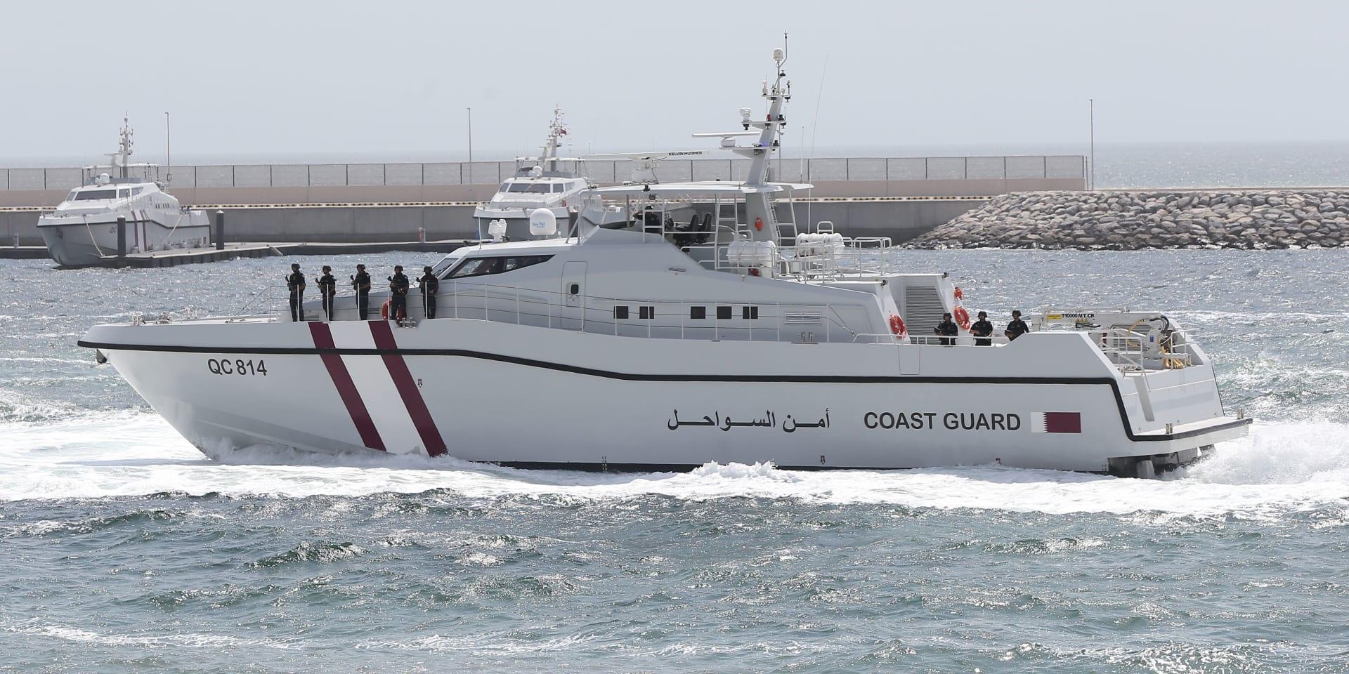صورة أرشيفية لزورق بخفر السواحل القطري