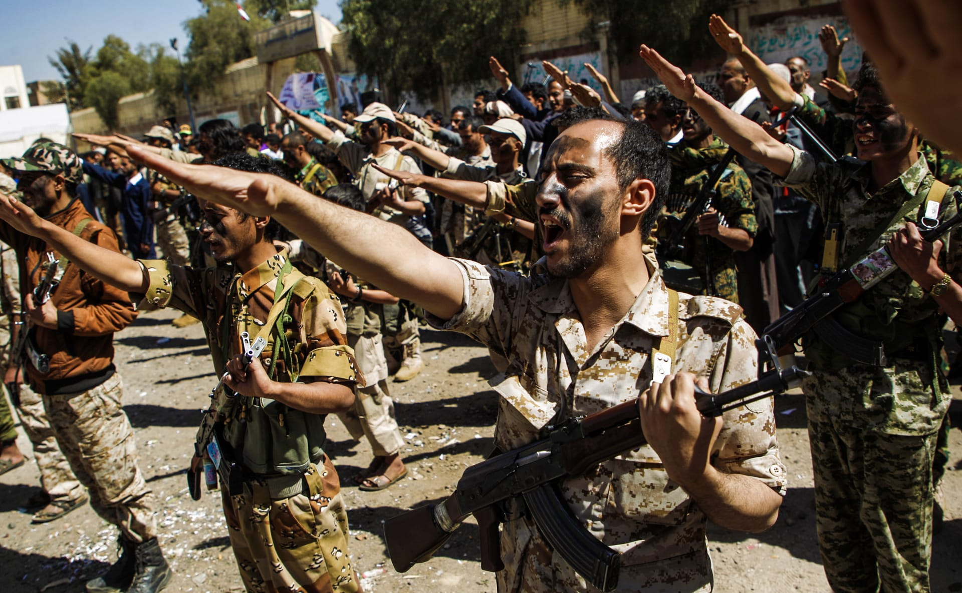 صورة ارشيفية لمجندين موالين للحوثي