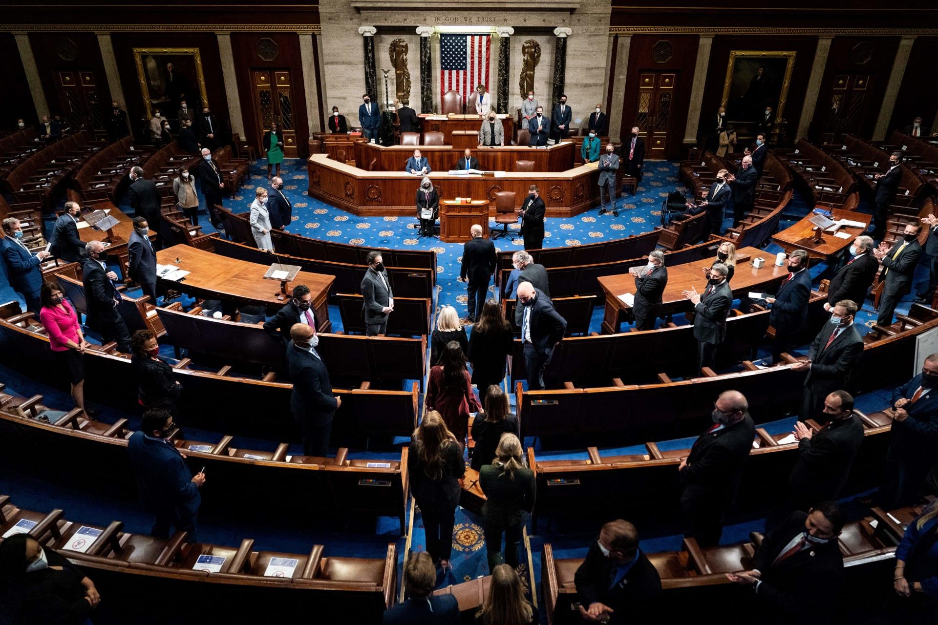 صورة ارشيفية لجلسة في الكونغرس الأمريكي