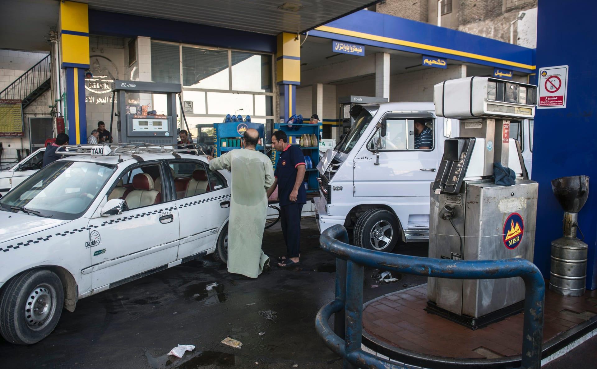 صورة أرشيفية لمحطة وقود في مصر