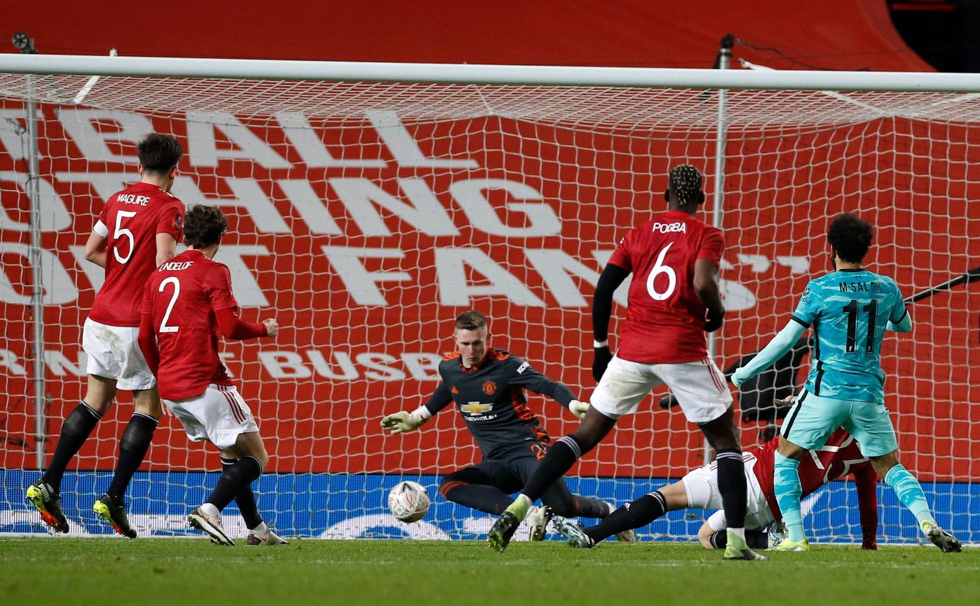مانشستر يونايتد يطيح بليفربول من كأس الاتحاد الإنجليزي مبكراً رغم ثنائية صلاح