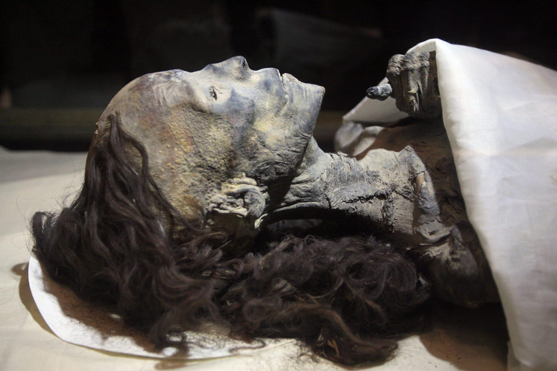 موميات للملكة تيا جدة الفرعون توت عنخ امون