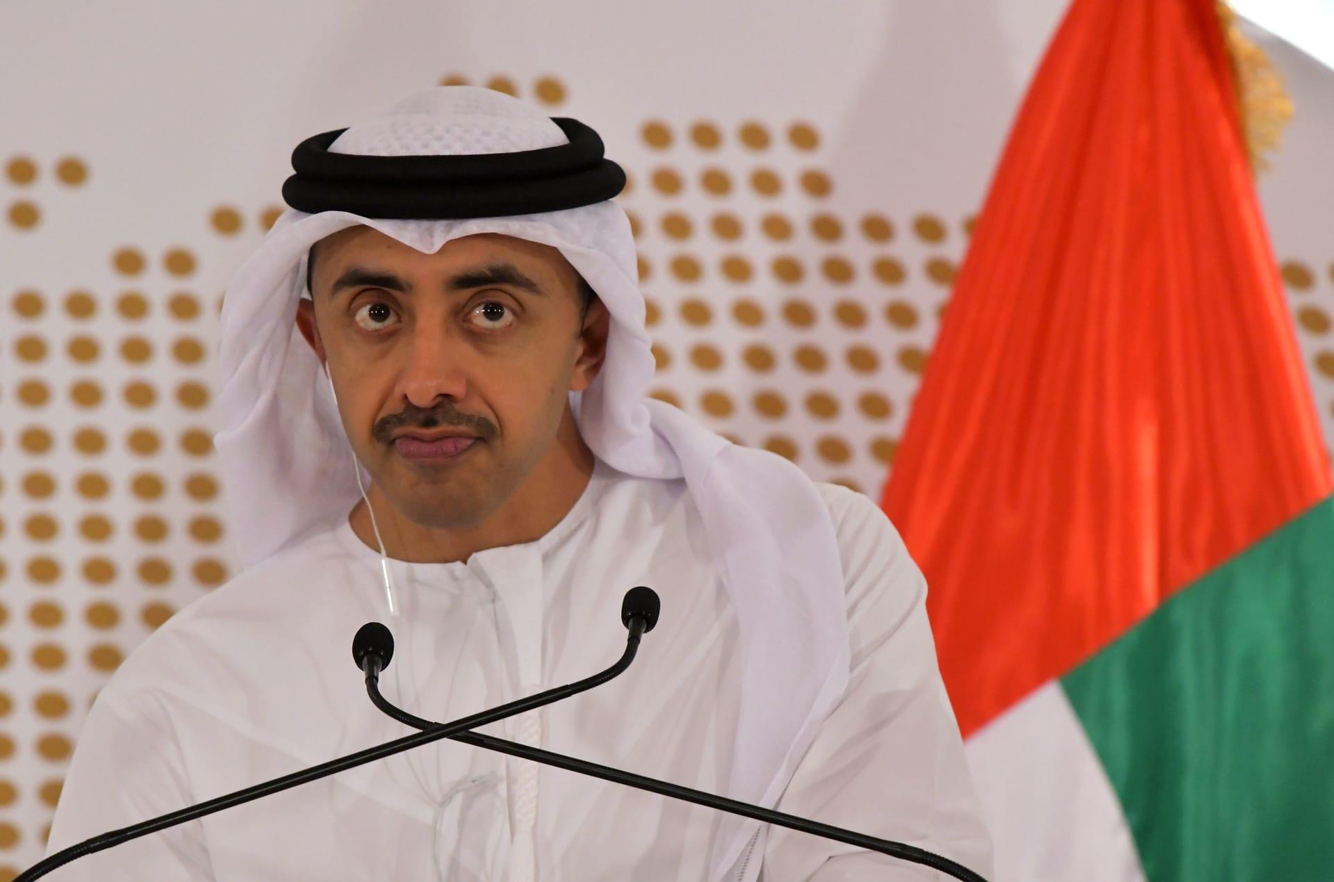 عبدالله بن زايد يؤكد التزام الإمارات بالعمل مع إدارة بايدن لخفض التوترات الإقليمية