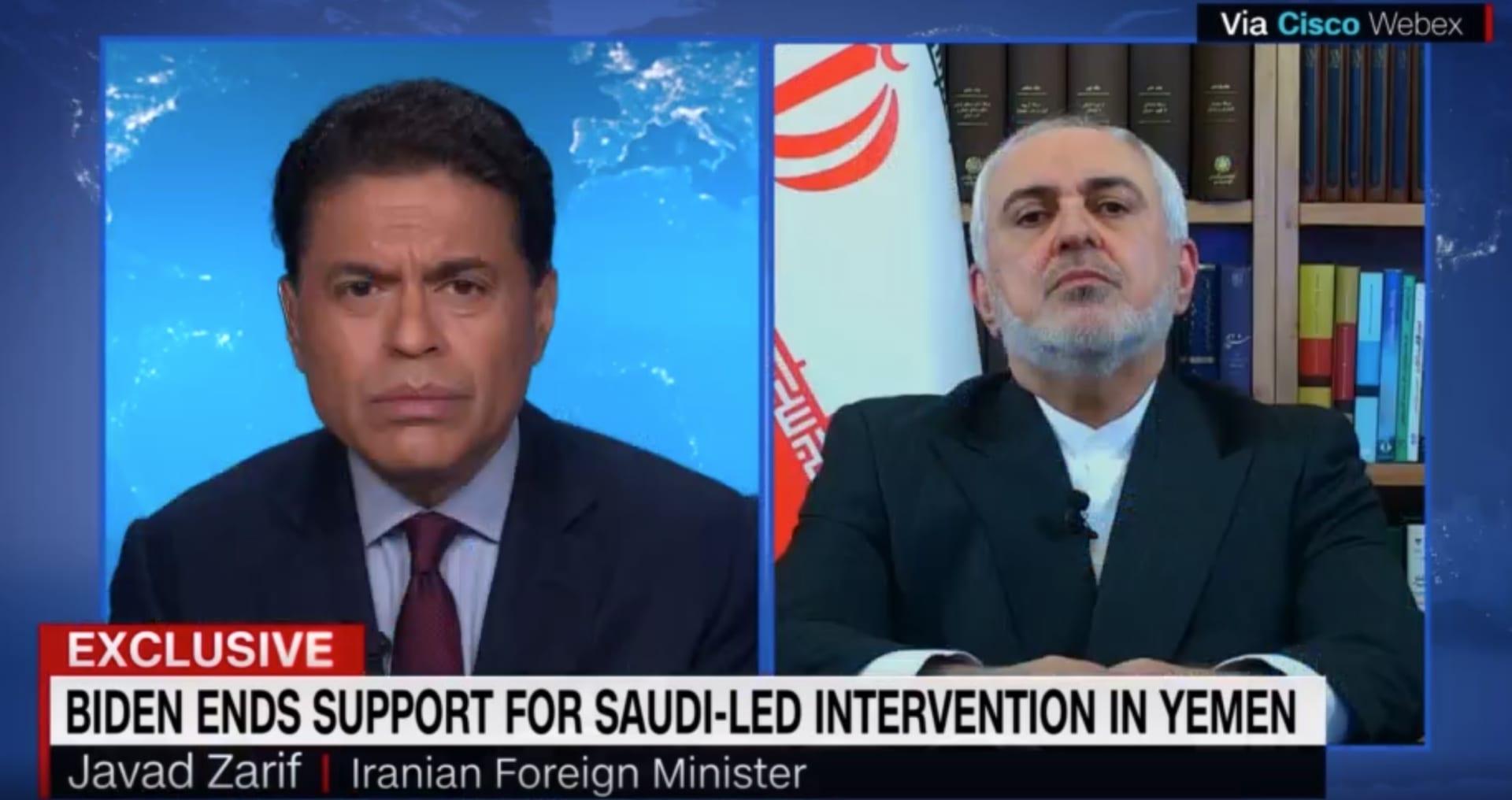 """وزير خارجية إيران: الولايات المتحدة بحاجة لإظهار """"الحب القاسي"""" للسعودية في اليمن"""