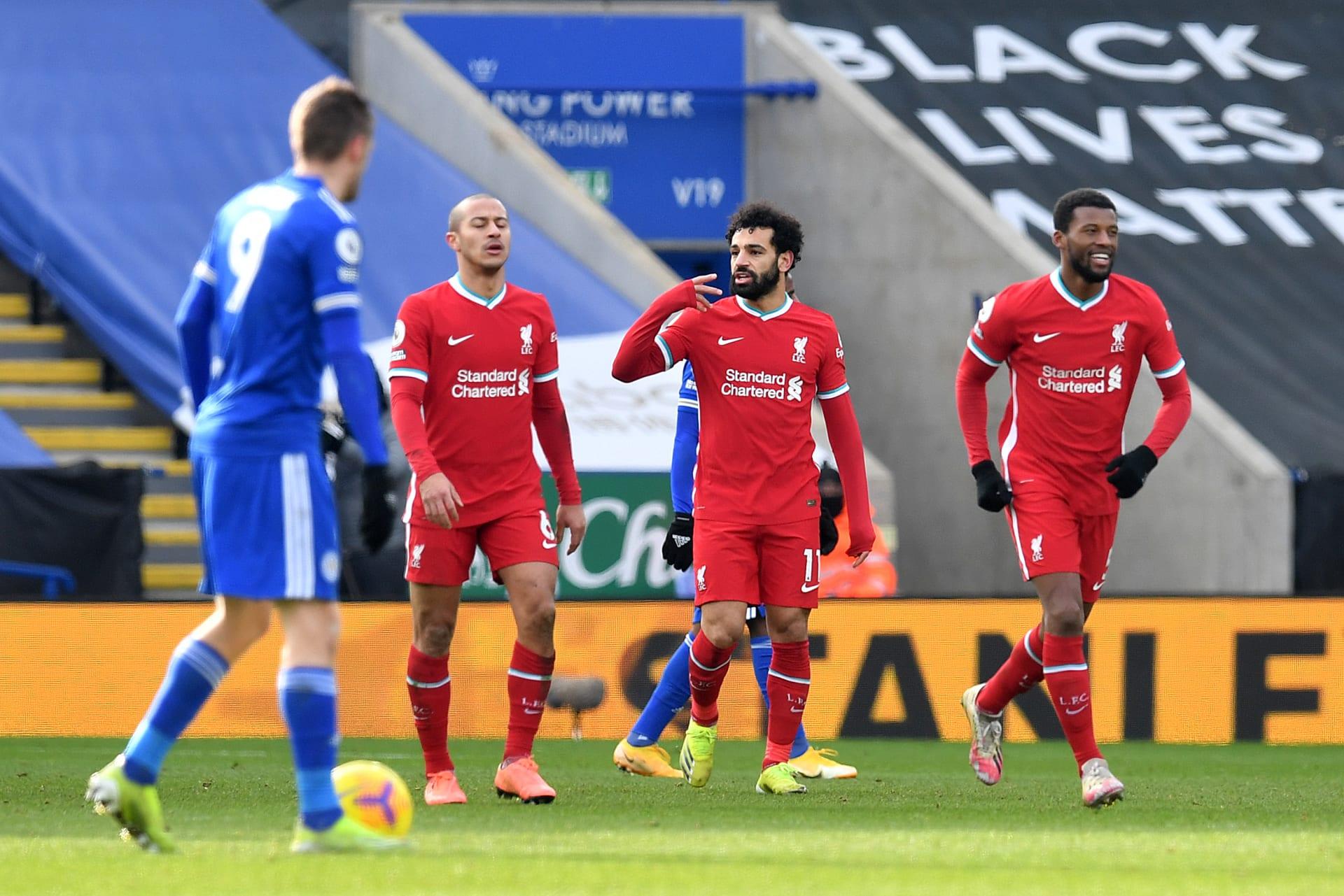 الدوري الإنجليزي: دفاع ليفربول عن اللقب يتبخر.. وليستر سيتي يهديه 3 أهداف في 8 دقائق