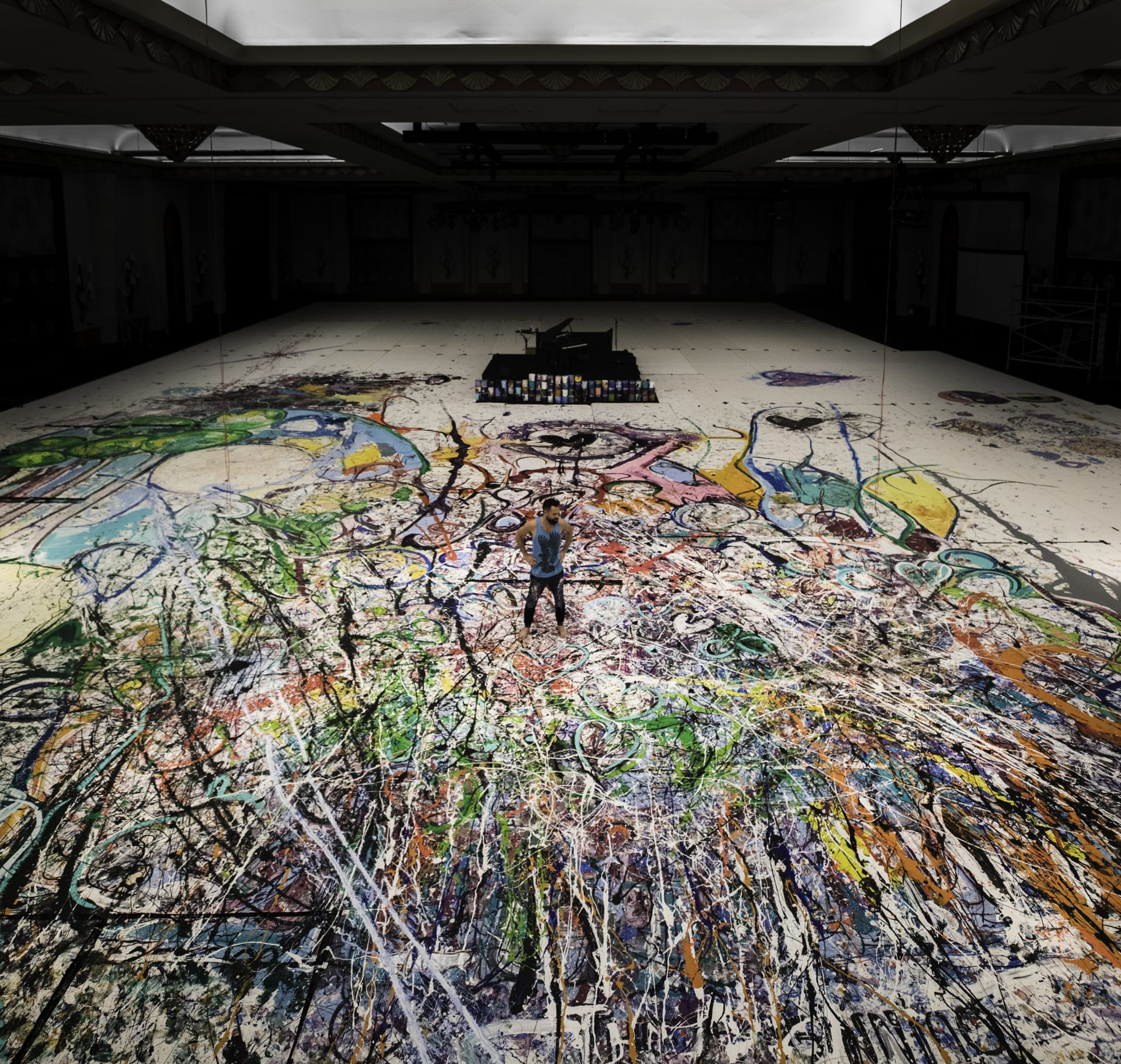 """بمساحة تتجاوز 17 ألف قدم مربع.. لوحة بدبي تجد طريقها لموسوعة """"غينيس"""" للأرقام القياسية"""