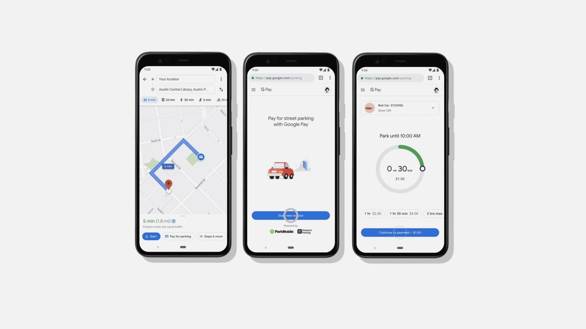 """خرائط """"غوغل"""" تسمح للمستخدمين الدفع لمواقف السيارات من داخل التطبيق"""