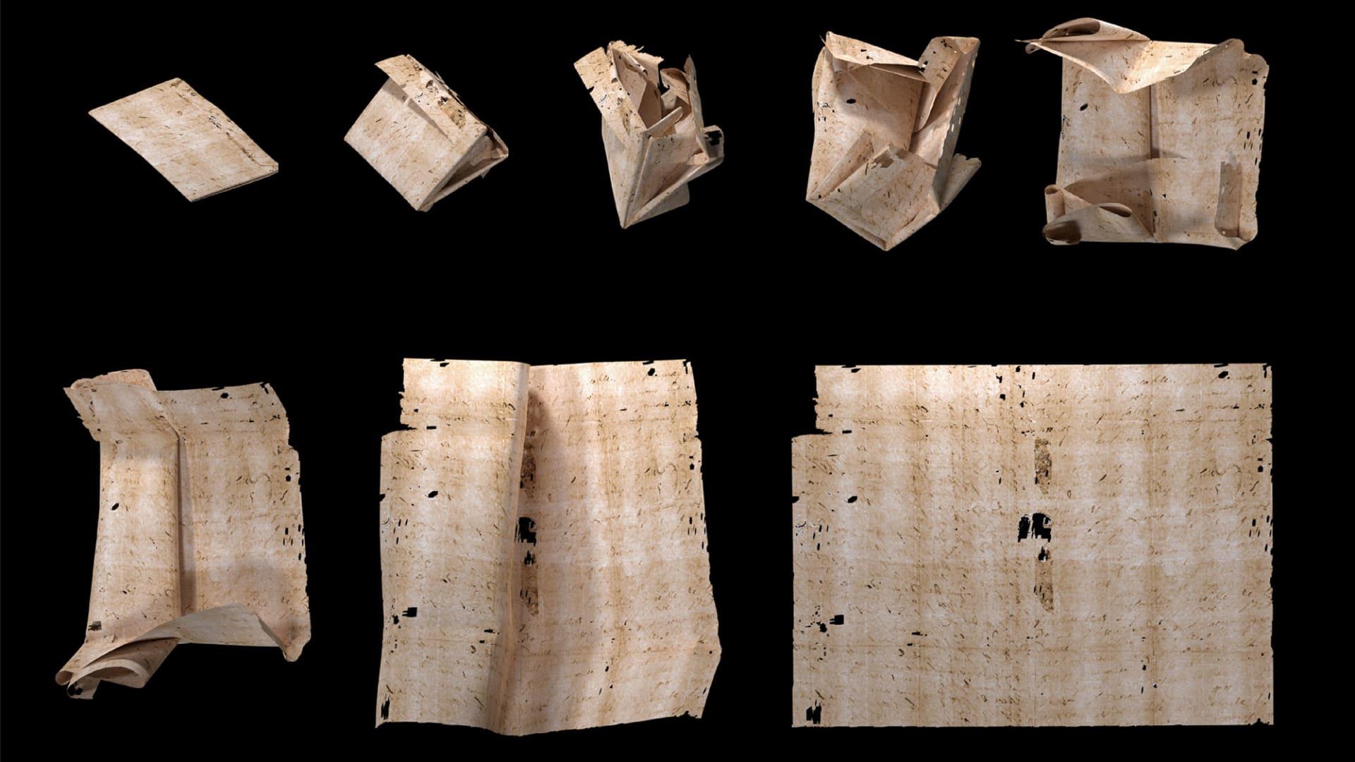 """باحثون يكشفون محتوى رسالة """"مقفلة"""" نادرة عمرها 300 عام دون فتحها..كيف؟"""