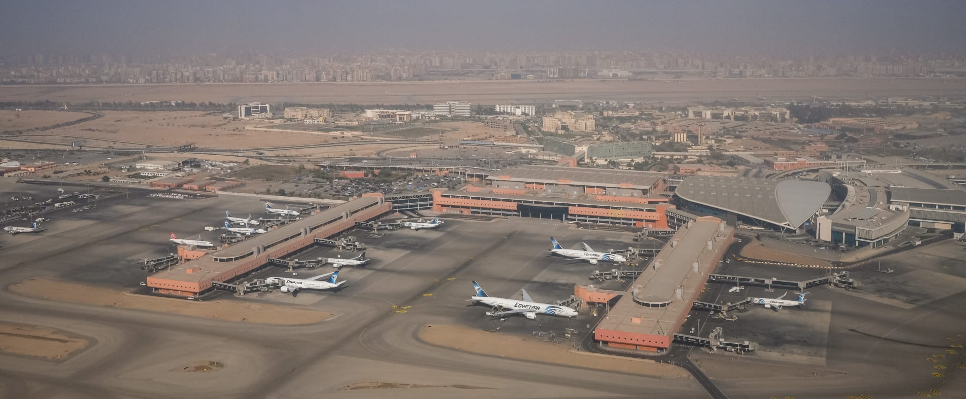 صورة أرشيفية جوية لمطار القاهرة الدولي