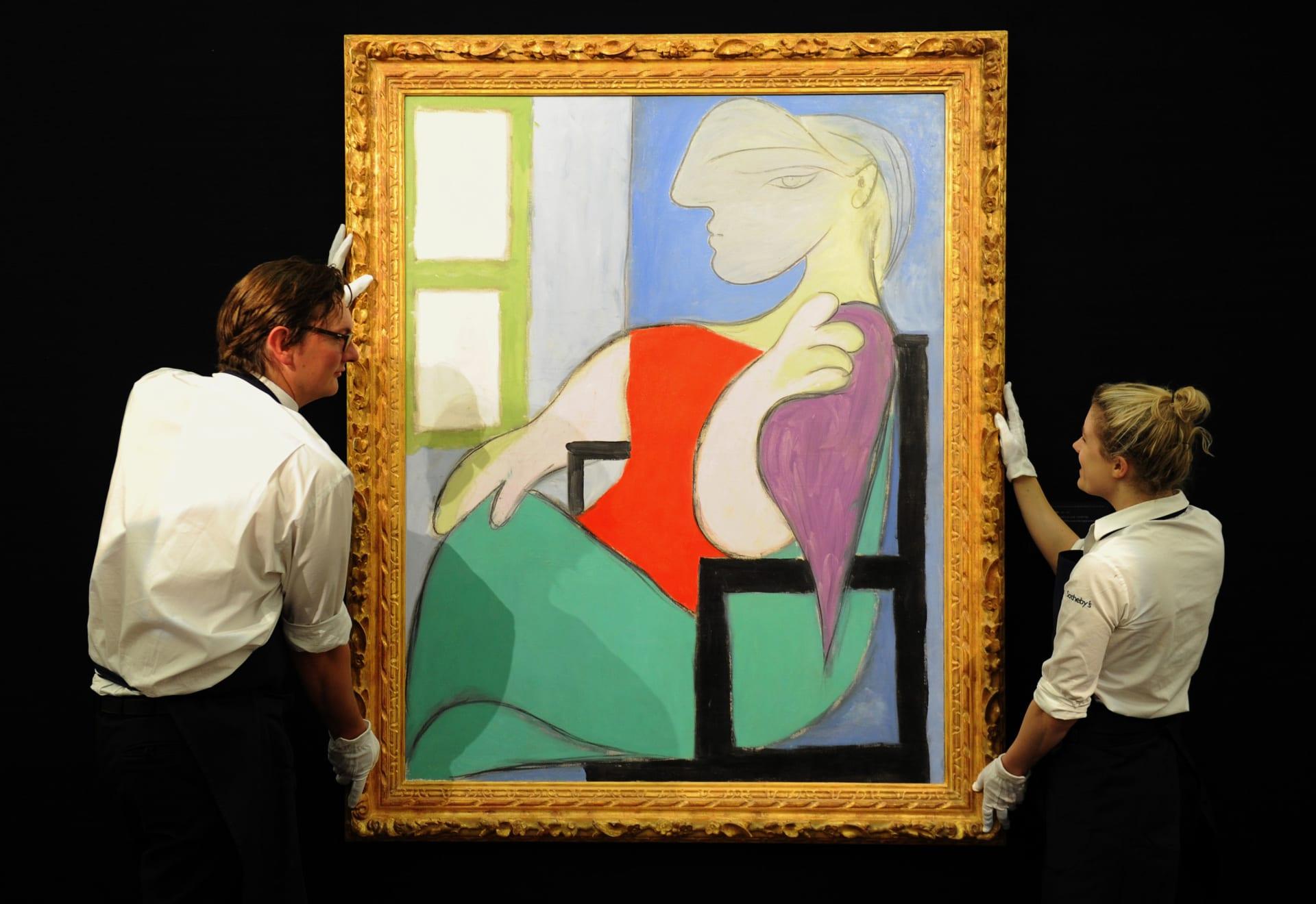 لوحة لعشيقة بيكاسو الشابة معروضة للبيع بمبلغ 55 مليون دولار في مزاد