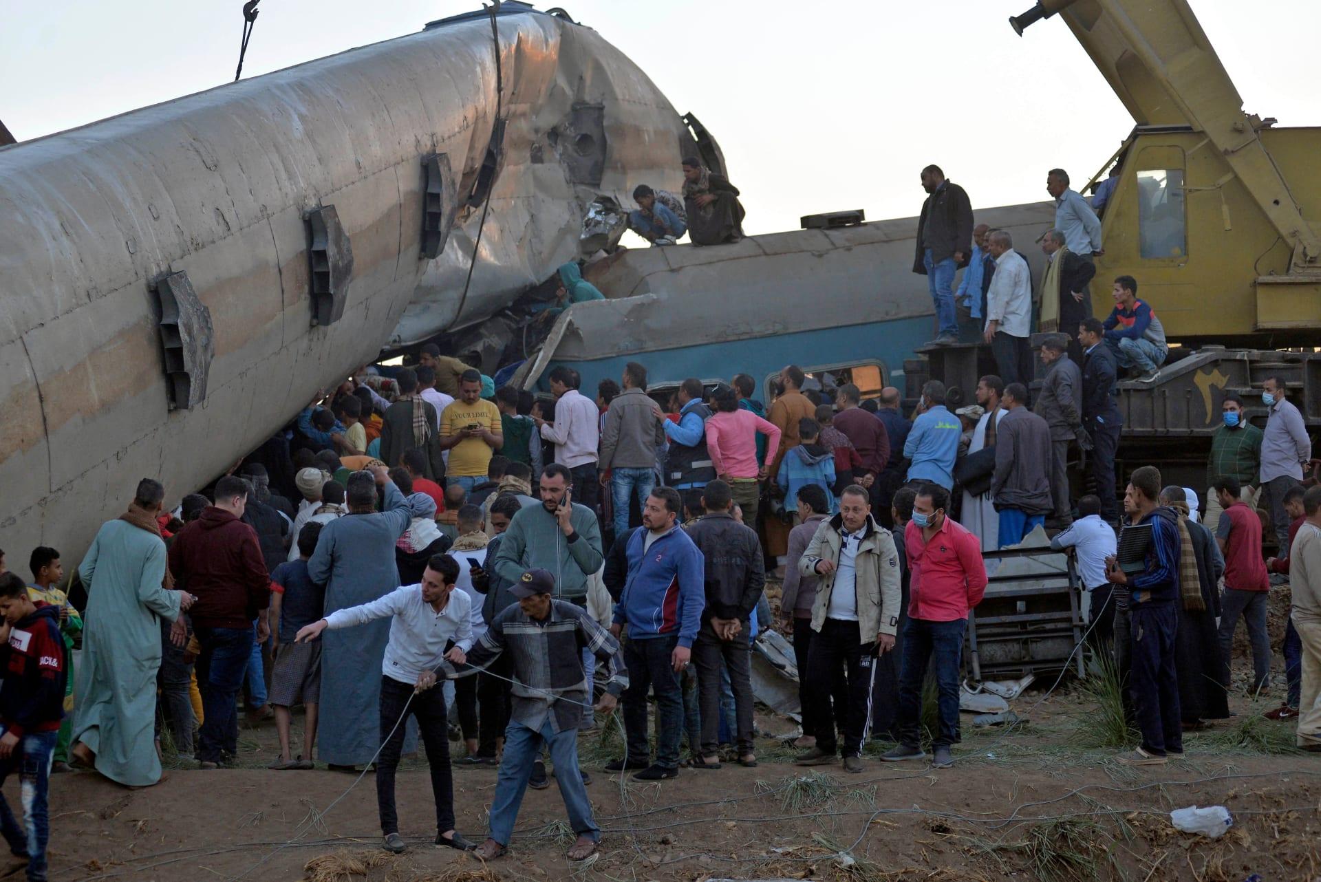 النيابة المصرية تعلن نتائج التحقيق في حادث قطاري سوهاج