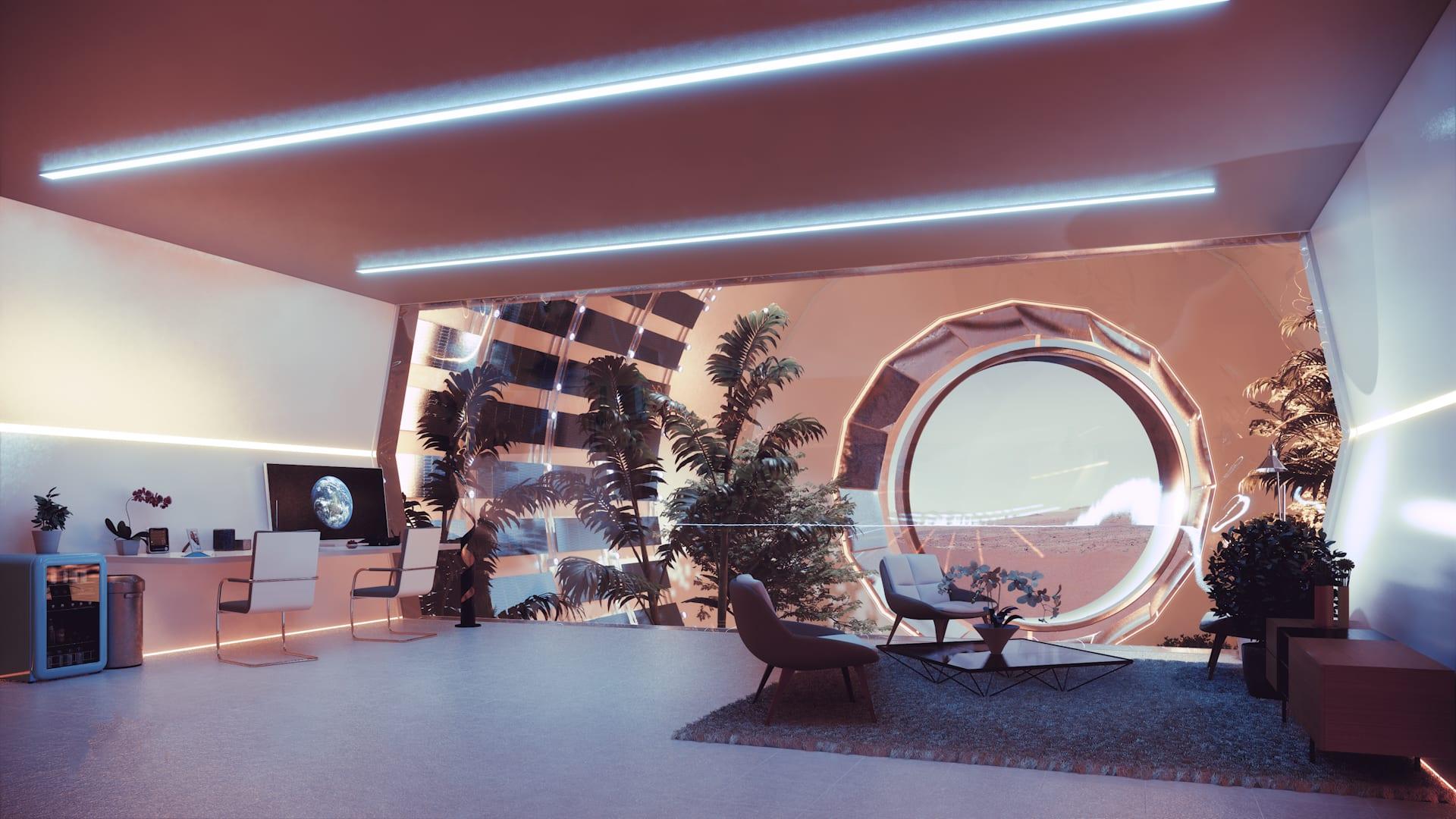 تصميم أول مدينة مستدامة في المريخ