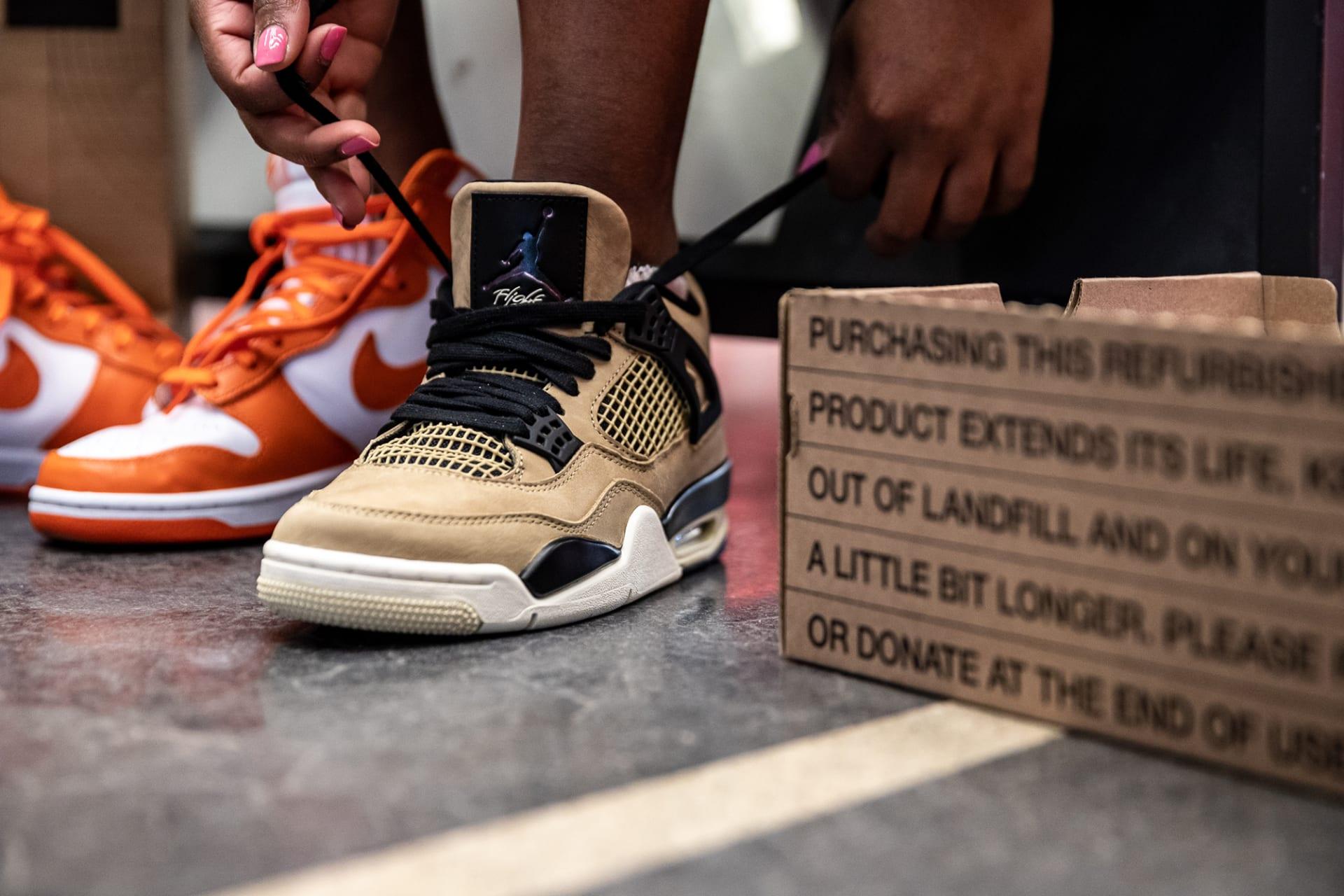"""""""نايكي"""" تطلق مبادرة لإعادة بيع الأحذية المستخدمة في بعض متاجرها"""