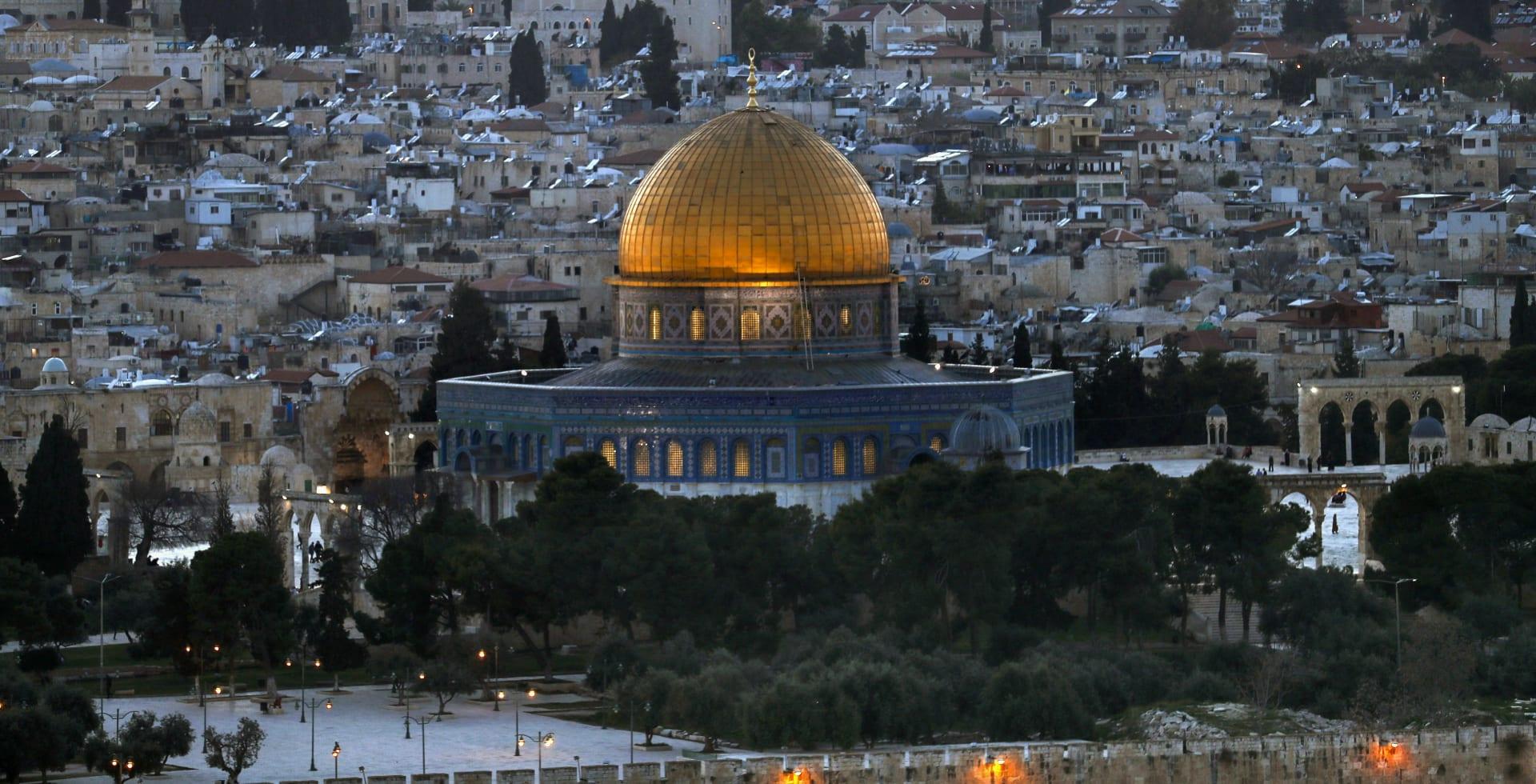 مسجد قبة الصخرة في القدس القديمة