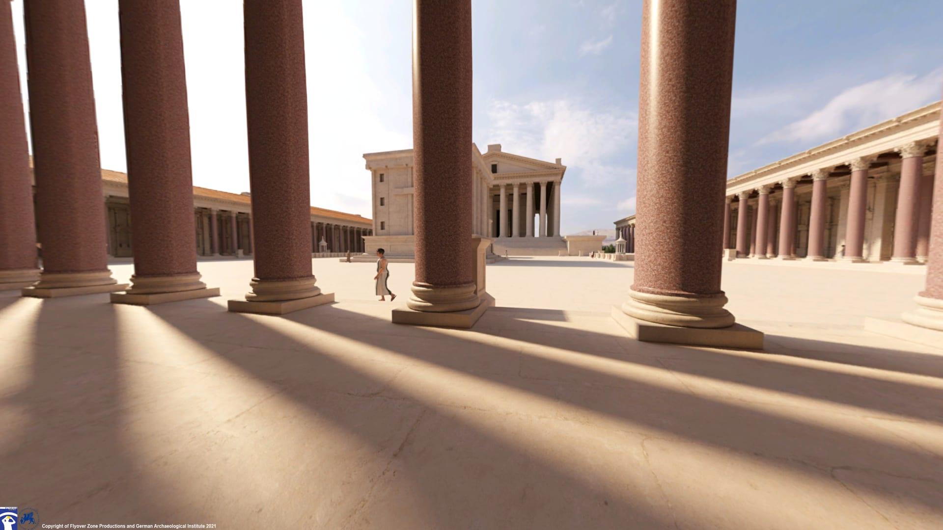في لبنان.. يمكنك الآن معرفة كيف بدت معابد بعلبك في أيام الرومان القدماء