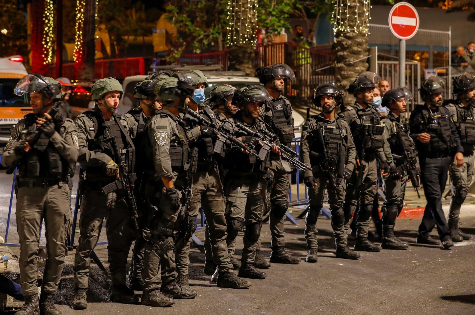 عناصر بقوات الأمن الإسرائيلية