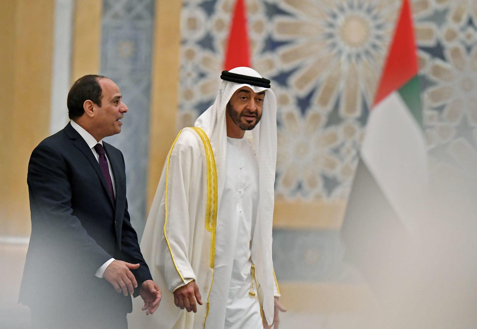 السيسي ومحمد بن زايد يبحثان ملف سد النهضة وجهود تسوية أزمات المنطقة