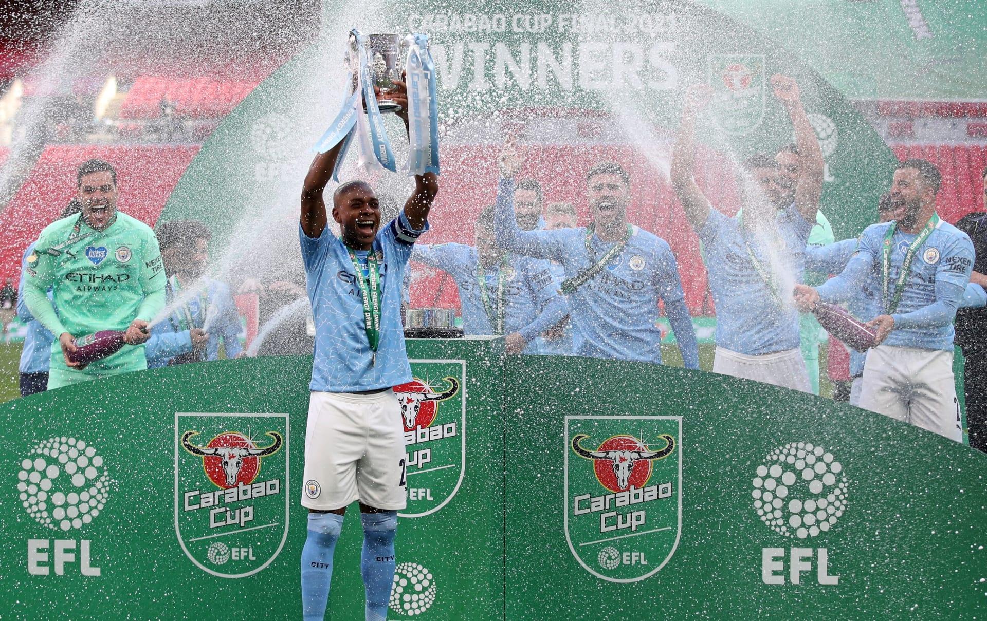 مانشستر سيتي يفوز بكأس الرابطة الإنجليزية.. ويعادل الرقم القياسي لليفربول