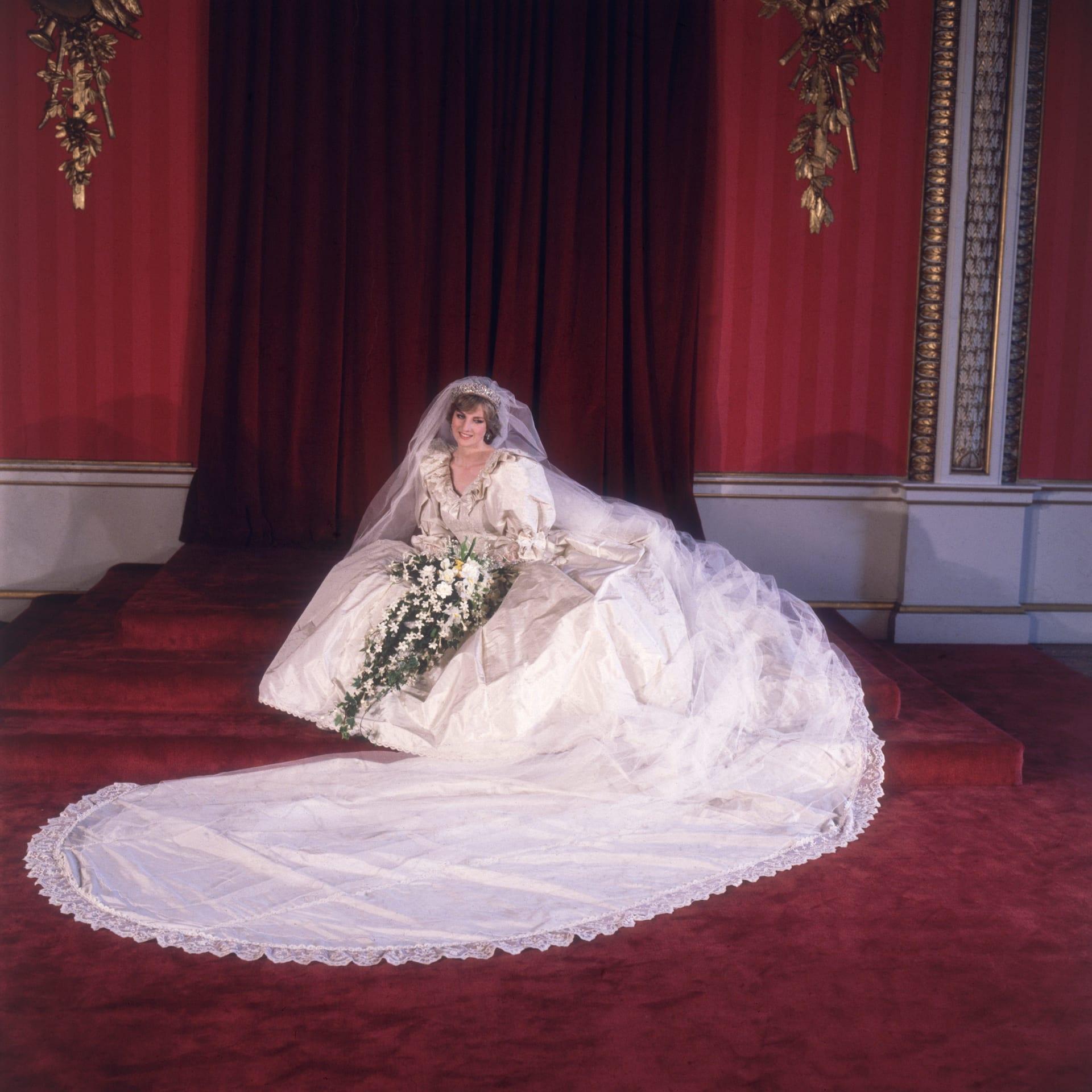 فستان زفاف الأميرة ديانا