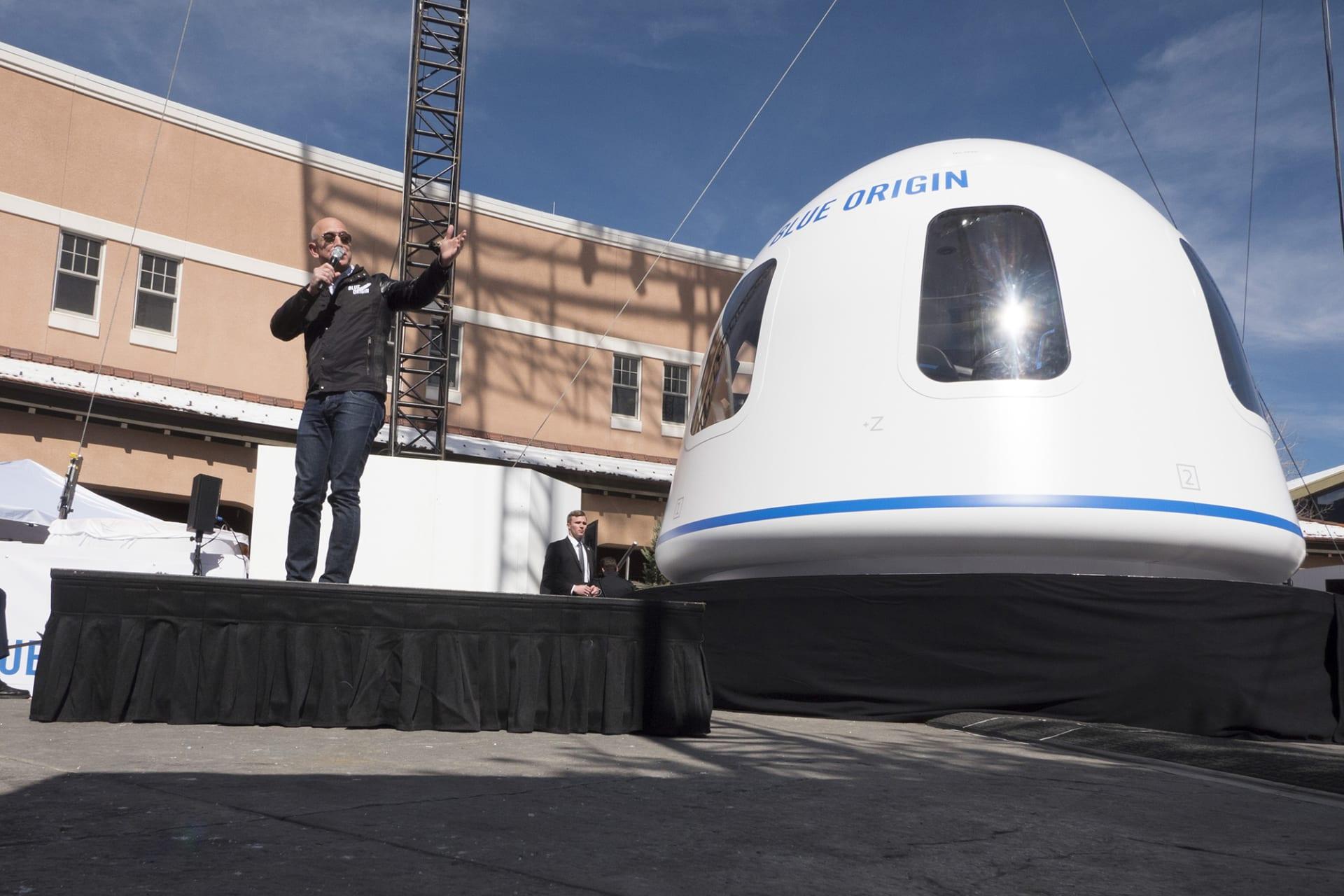 """للبيع في مزاد.. تذكرة لأول رحلة سياحية إلى الفضاء على متن """"بلو أوريجين"""""""