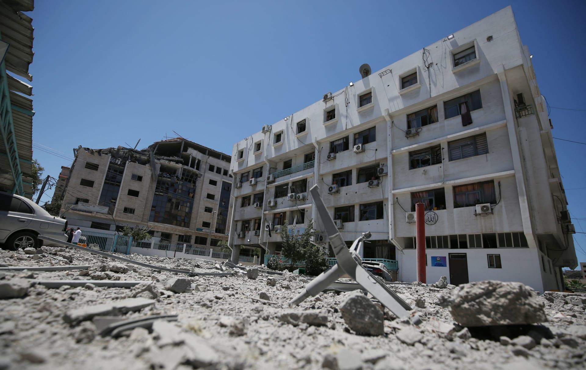مبنى وزارة الصحة الفلسطينية في غزة
