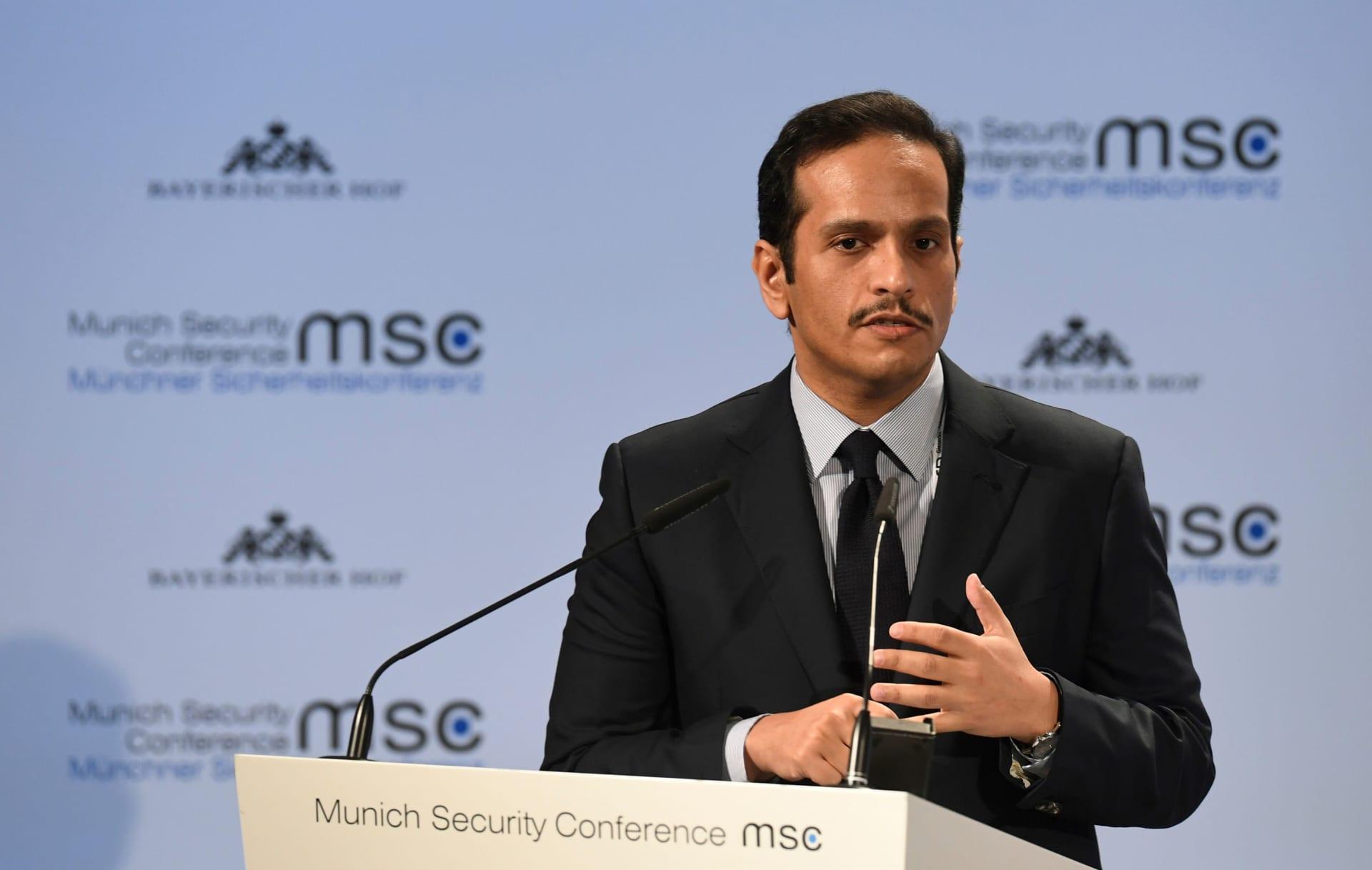 """وزير الخارجية القطري عن العلاقات مع مصر: نحن نتعامل مع الدولة """"الشرعية"""" لا مع أحزاب سياسية"""