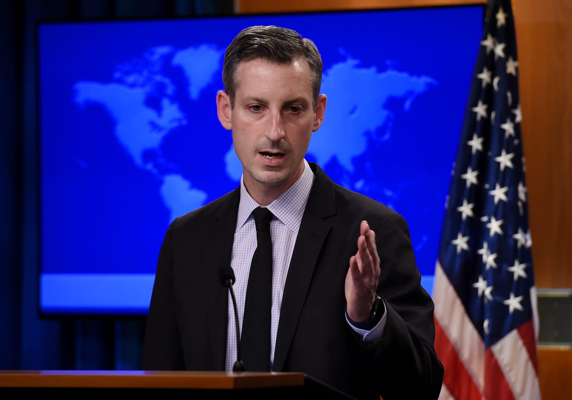 نيد برايس المتحدث باسم الخارجية الأمريكية