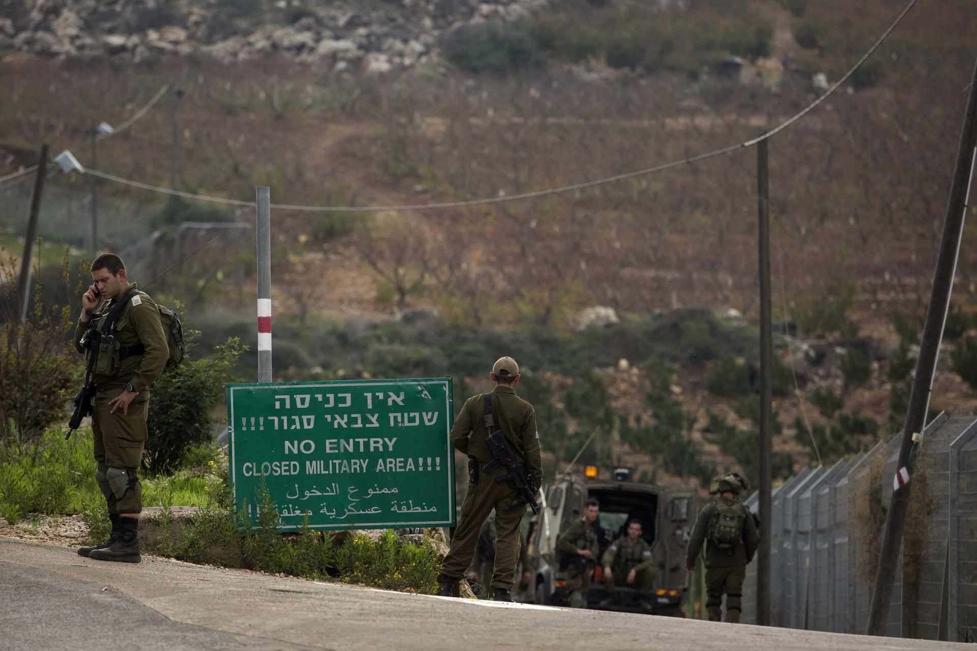 صورة أرشيفية لجنود إسرائيليين قرب الحدود اللبنانية