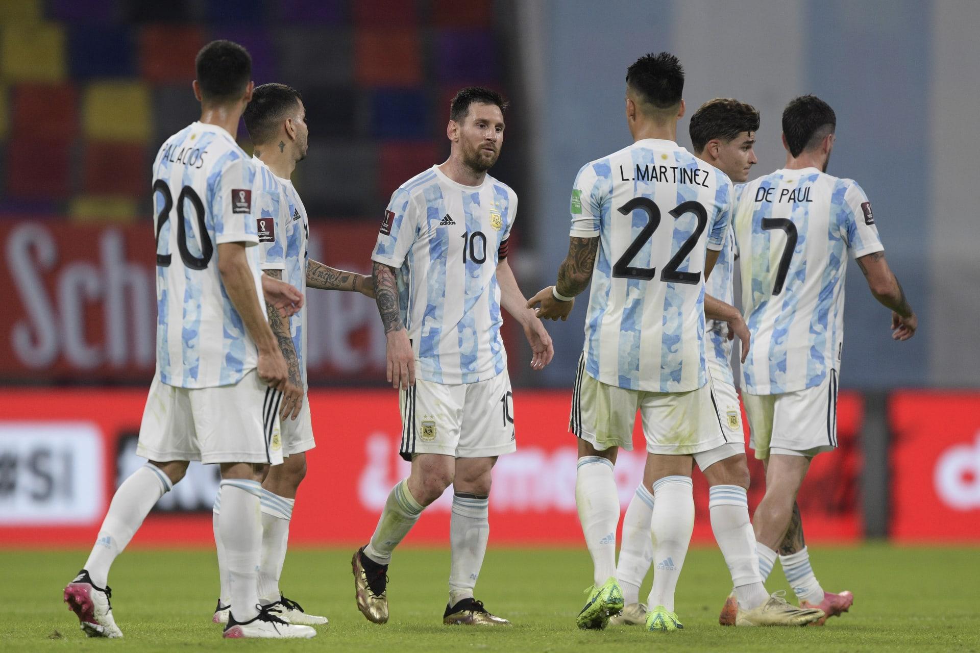 لاعبو منتخب الأرجنتين
