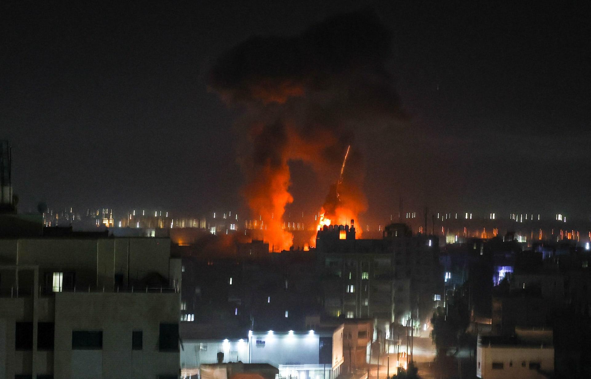 غارات جوية إسرائيلية على غزة - الأربعاء 16 يونيو 2021