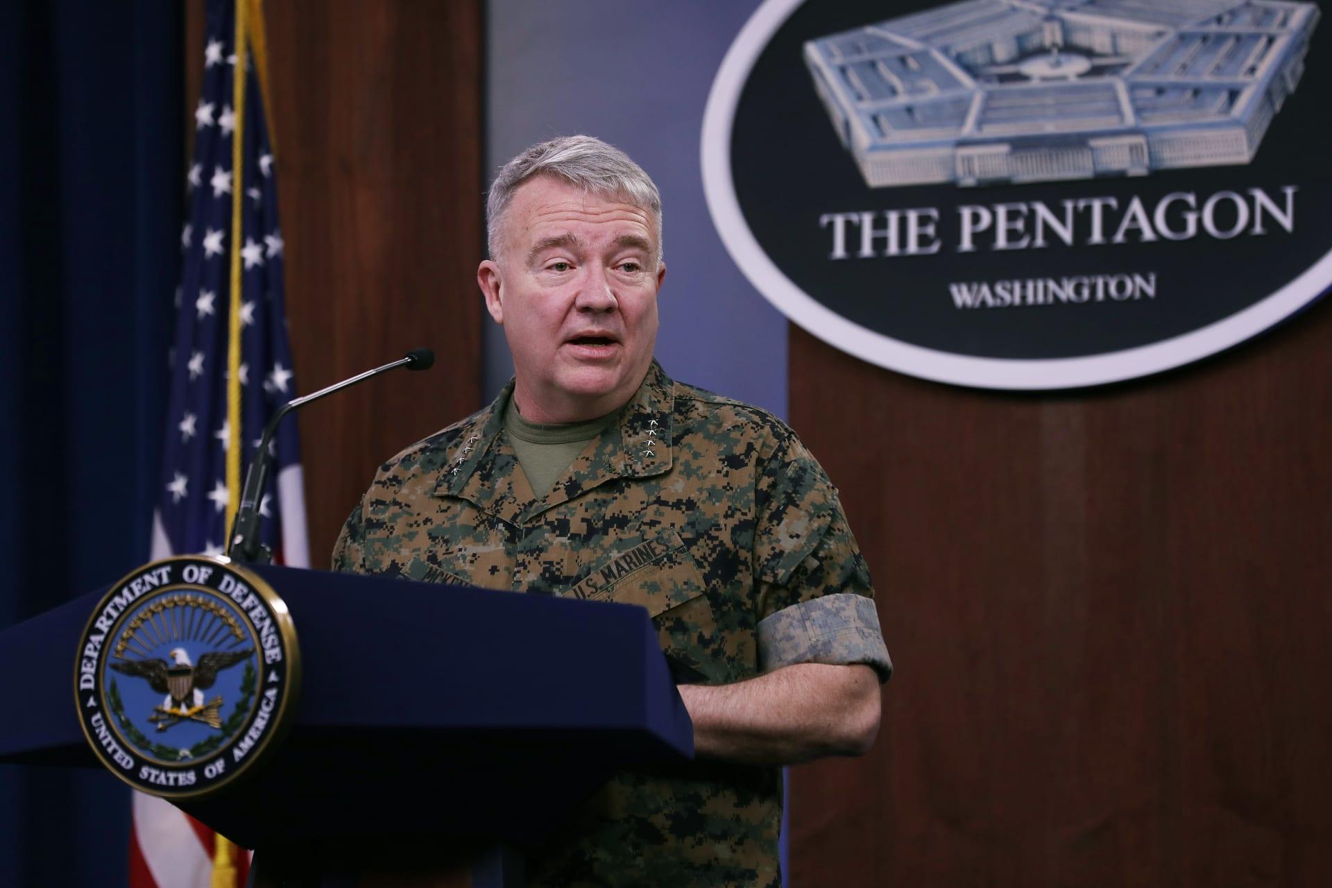 قائد القيادة المركزية الأمريكية، الجنرال كينيث ماكنزي