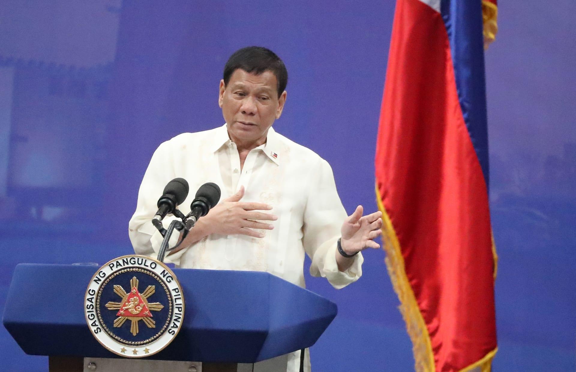 الرئيس الفلبيني رودريغو دوترتي