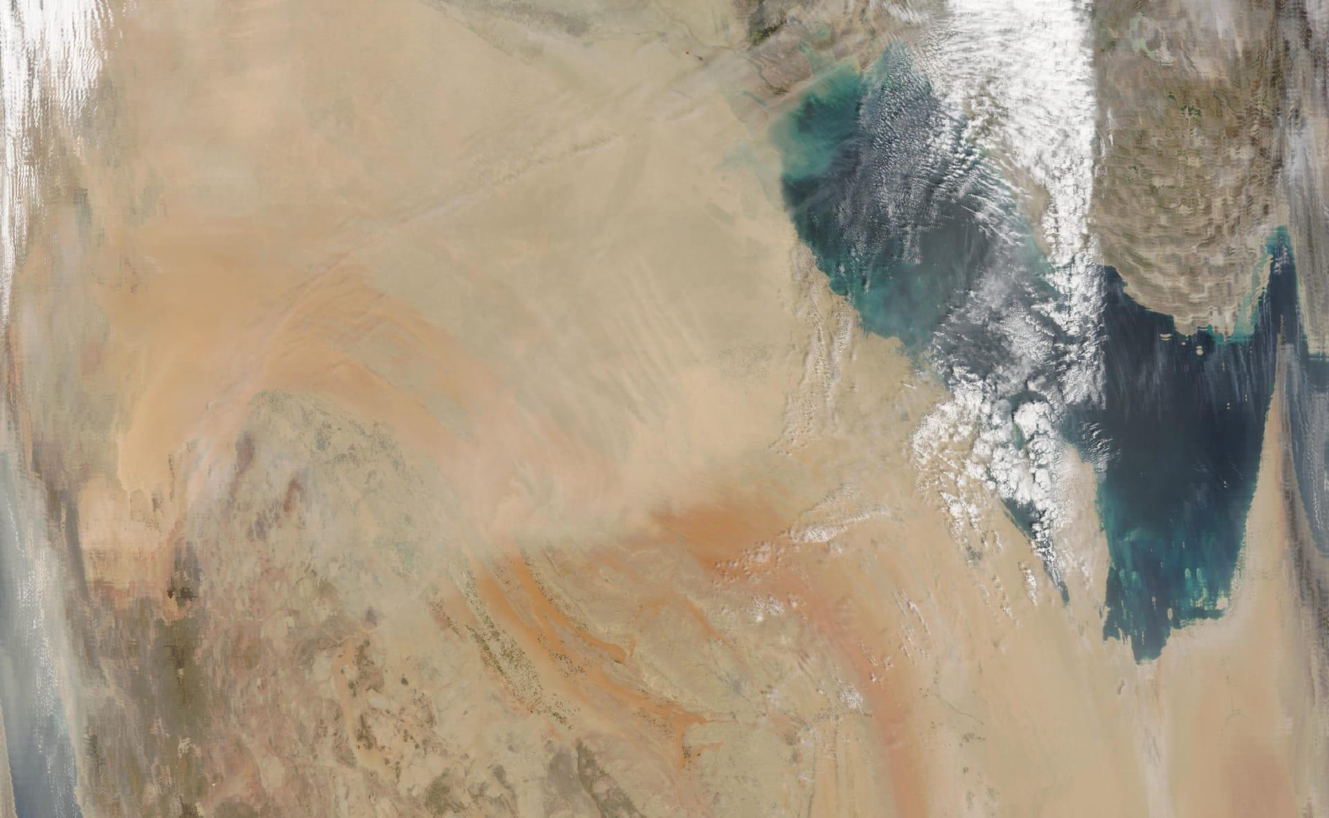 صورة أرشيفية من الفضاء لشبه الجزيرة العربية