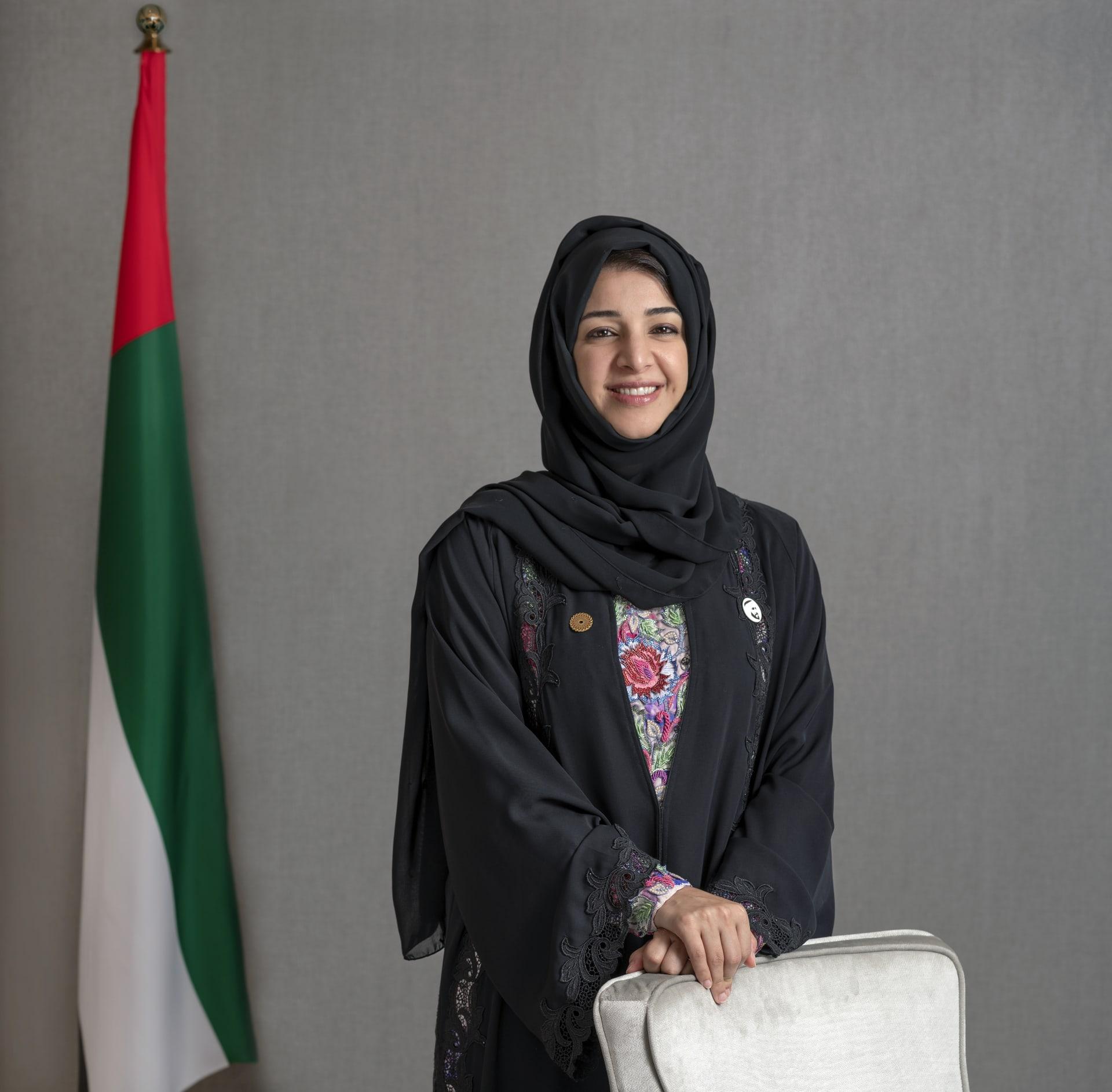ريم الهاشمي، وزيرة الدولة لشؤون التعاون الدولي والمديرة العامة لمكتب إكسبو 2020 دبي