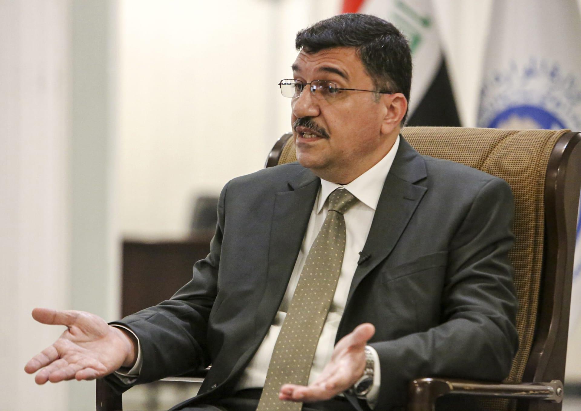 وزير الموارد المائية العراقي مهدي رشيد الحمداني