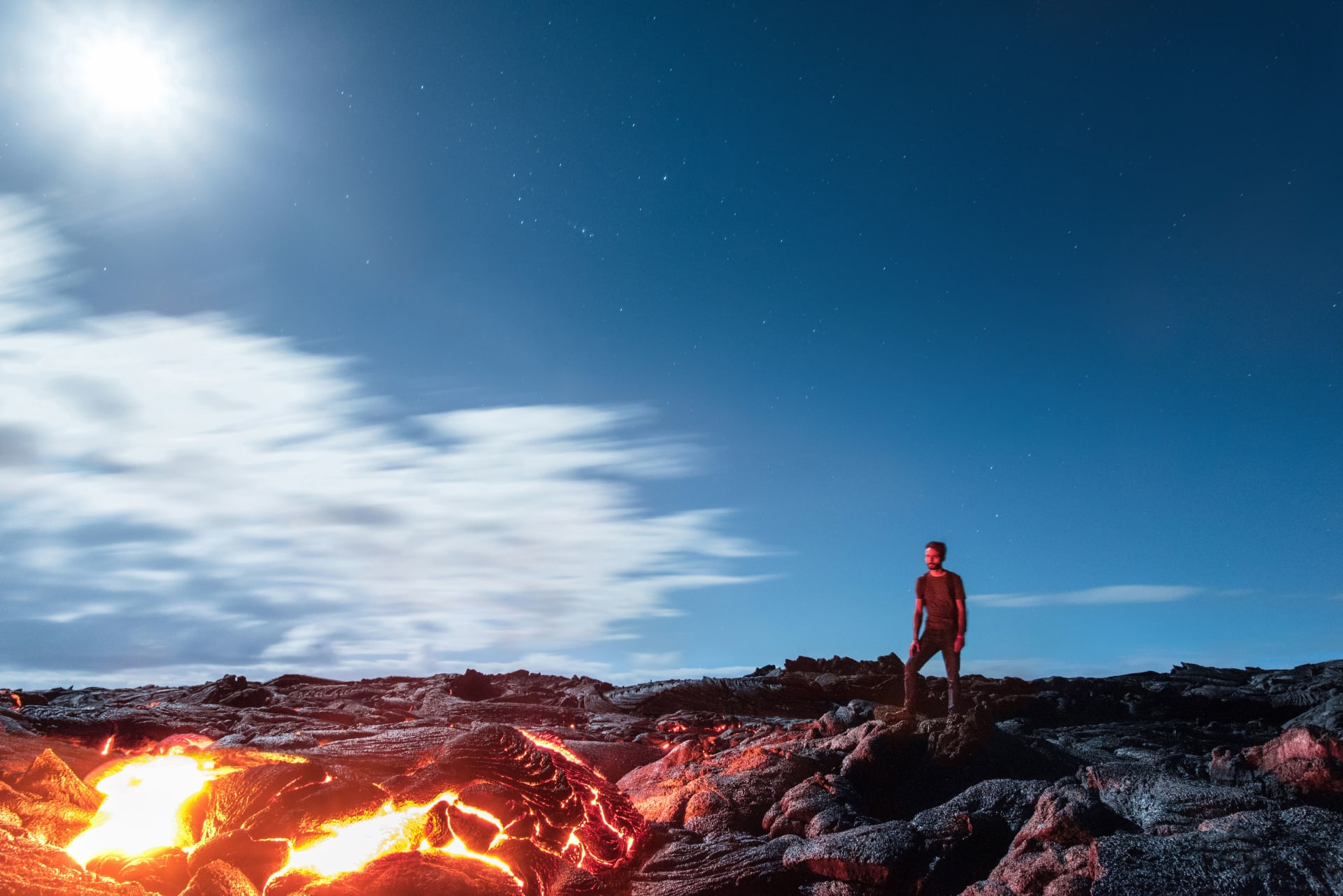 الحمم البركانية في جزيرة هاواي