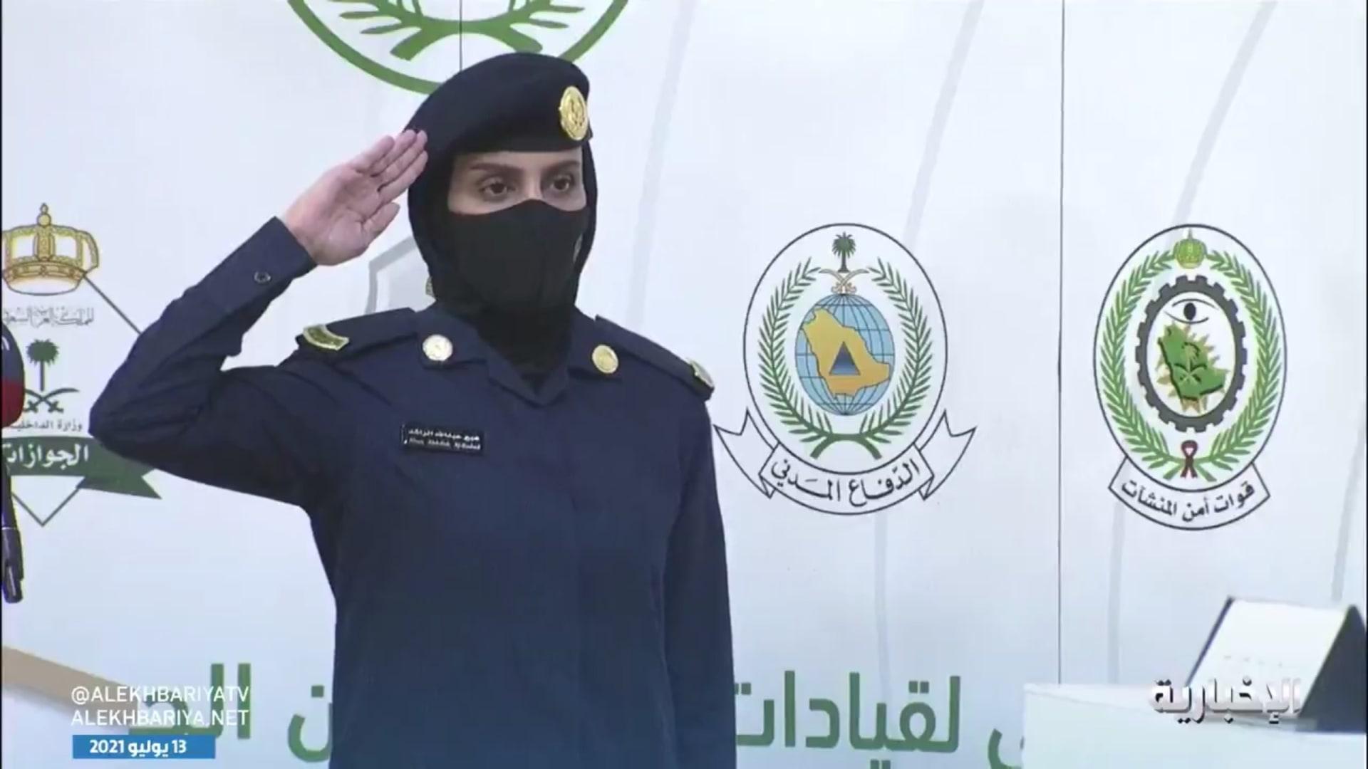 """سعوديون يحتفون بالجندية عبير الراشد: """"بأمثالك نفخر"""""""
