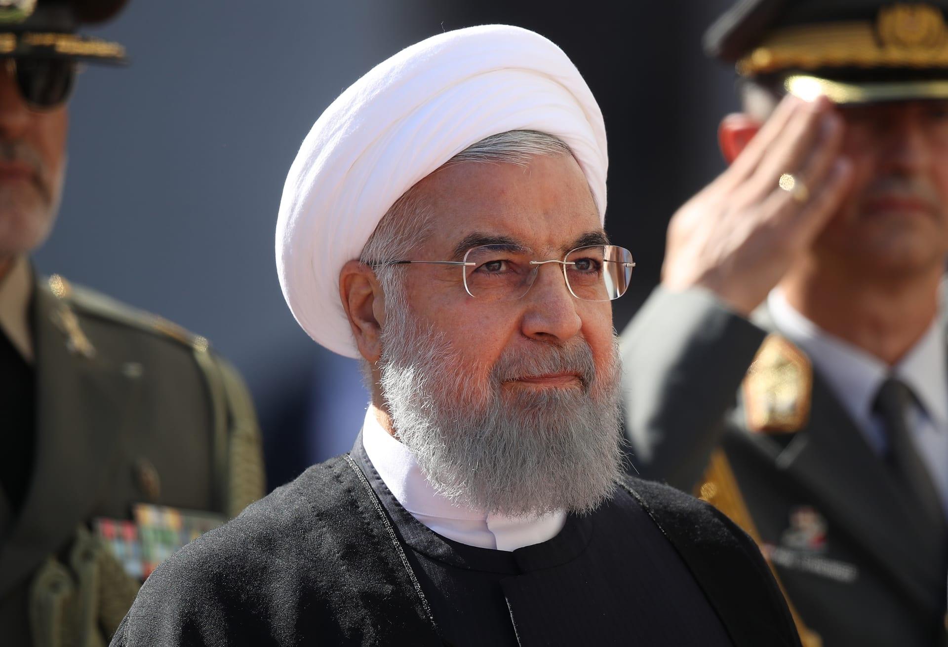 صورة أرشيفية للرئيس الإيراني، حسن روحاني