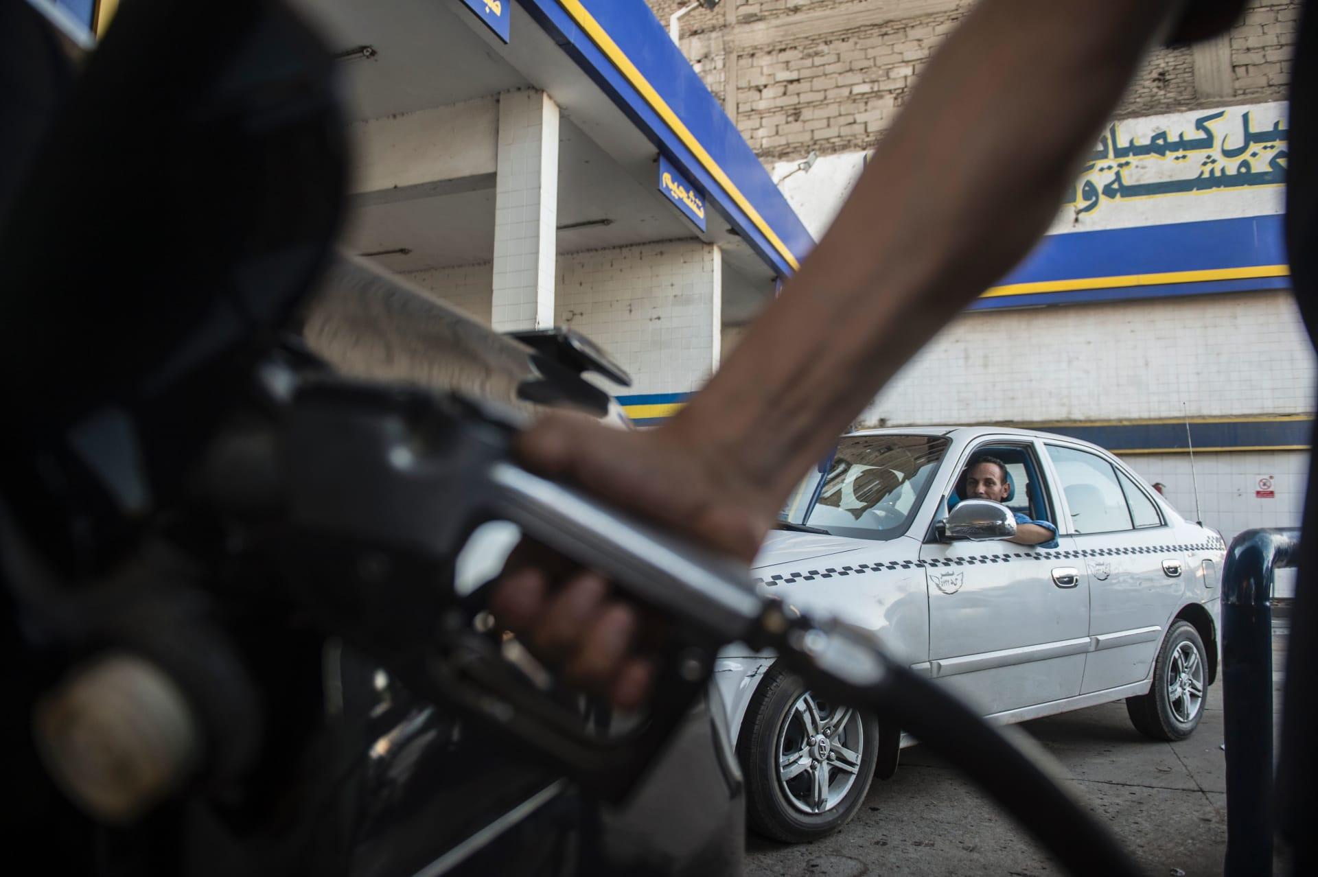 صورة أرشيفية من محطة وقود في مصر