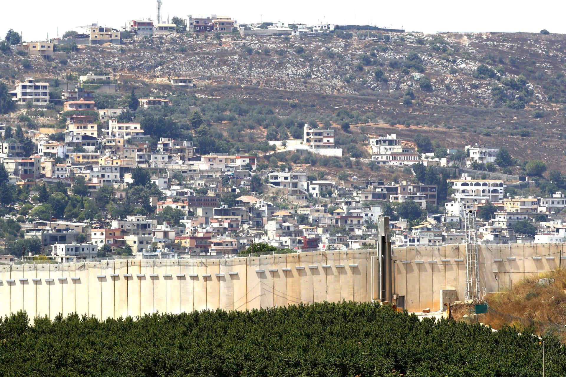 صورة أرشيفية لجانب من الحدود بين إسرائيل ولبنان