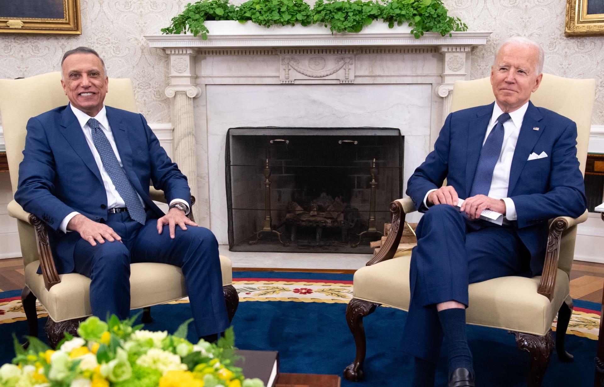 لقاء بايدن والكاظمي في البيت الأبيض