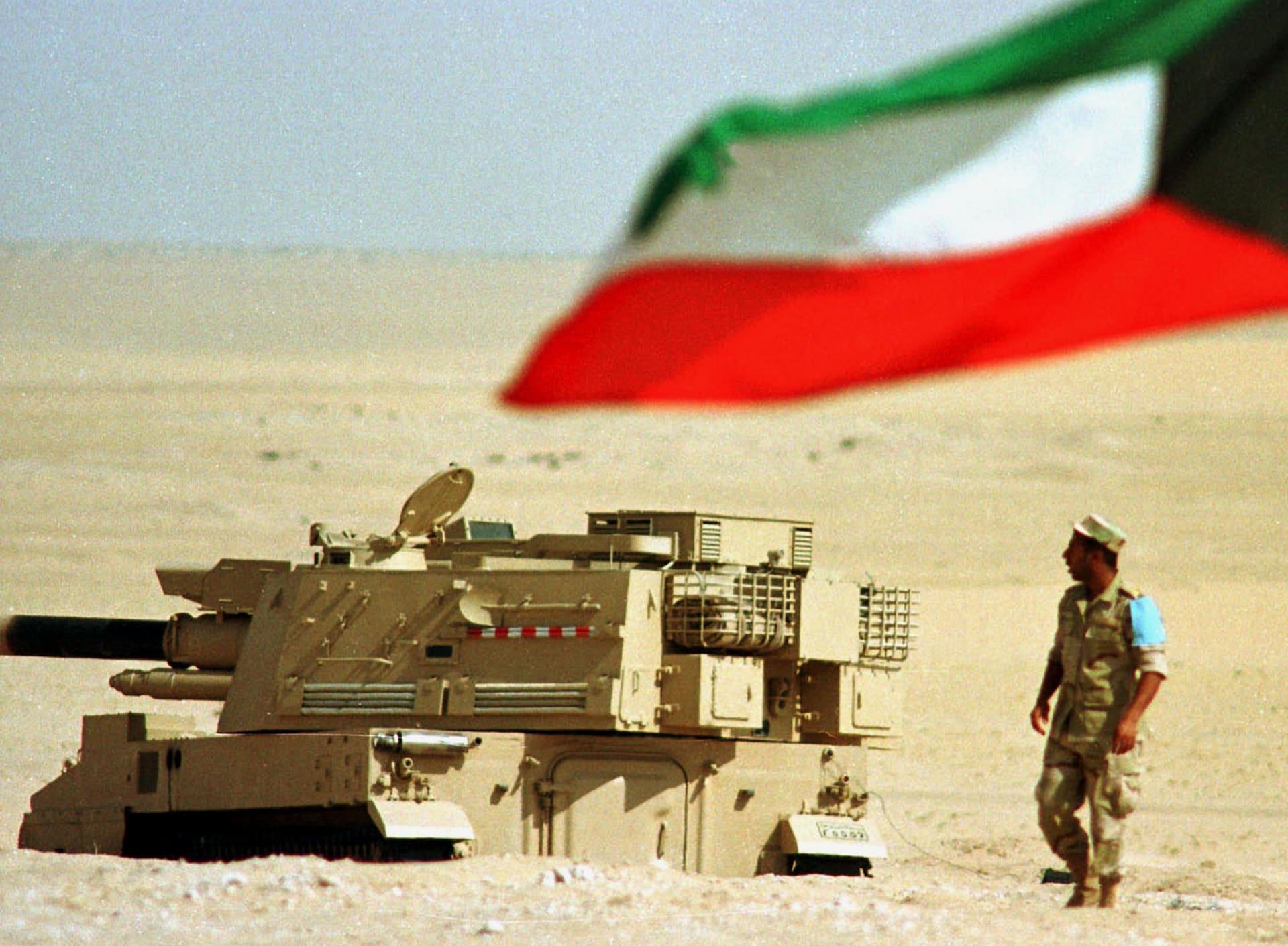 صورة ارشيفية من تدريبات عسكرية كويتية في ذكرى الاحتلال العراقي