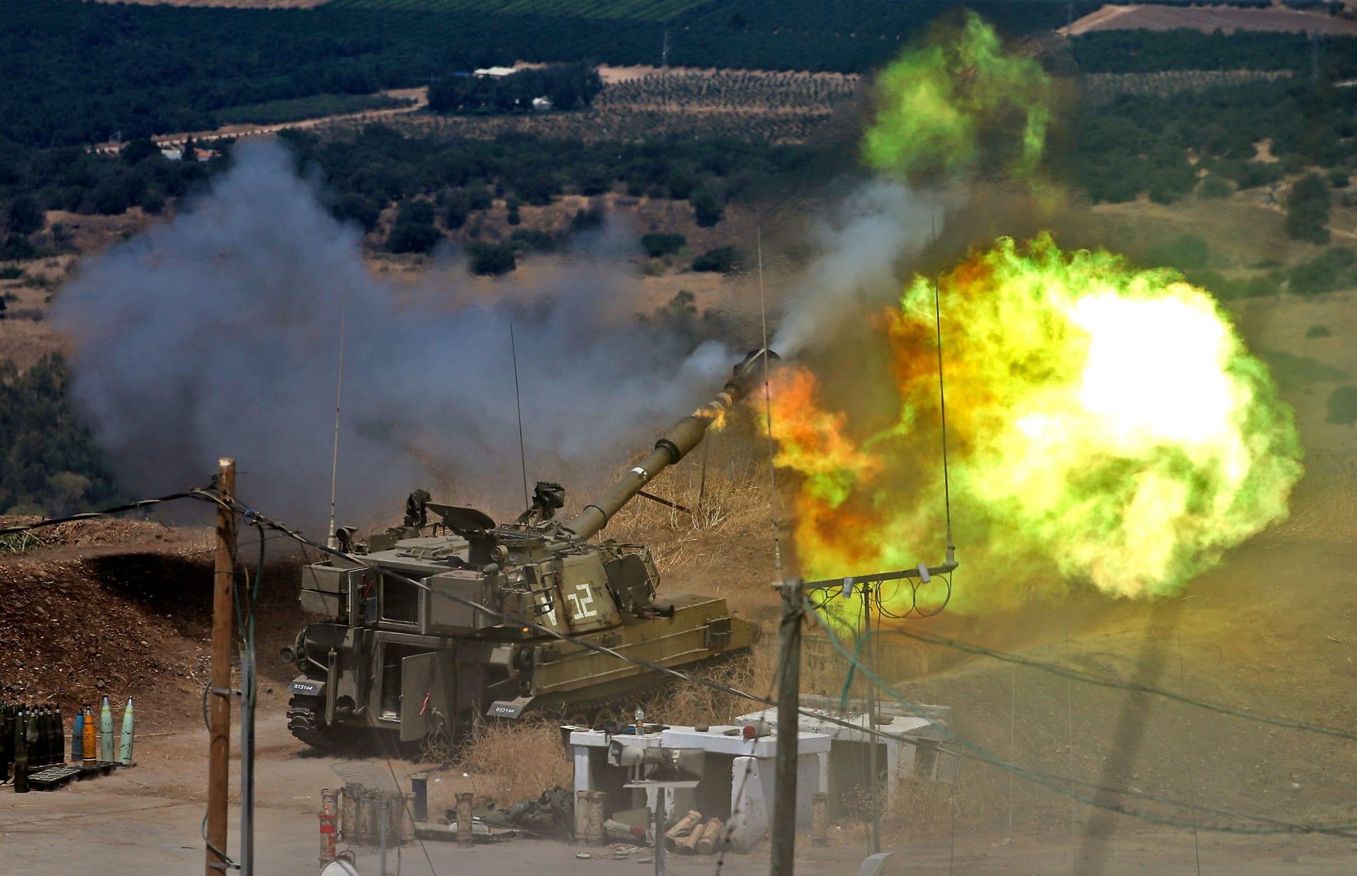 مدفعية إسرائيلية ترد بقصف أهداف بعد إطلاق القذائف من لبنان صوب إسرائيل