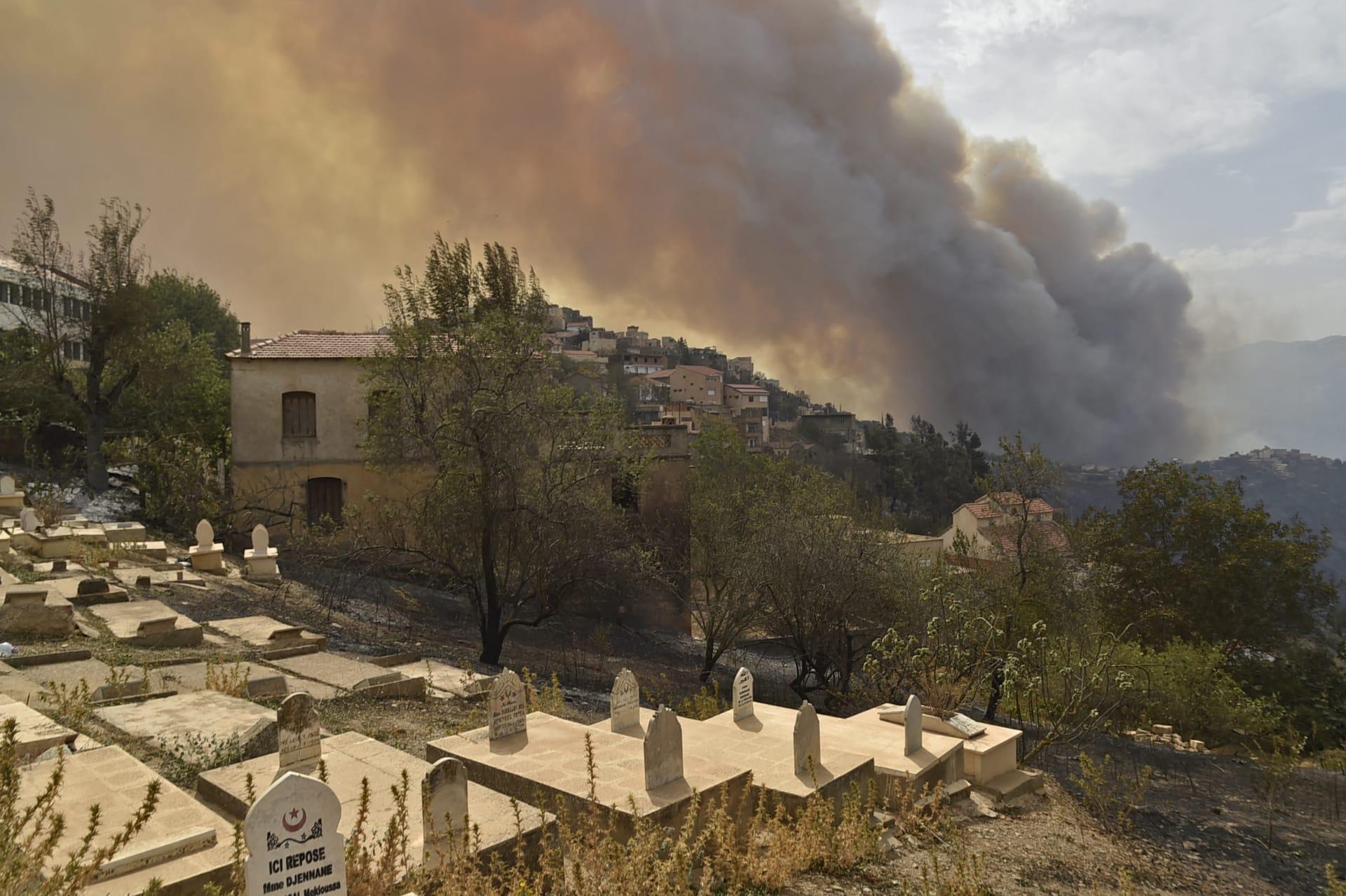 مقتل 25 فردًا من الجيش الجزائري خلال مواجهة حرائق الغابات